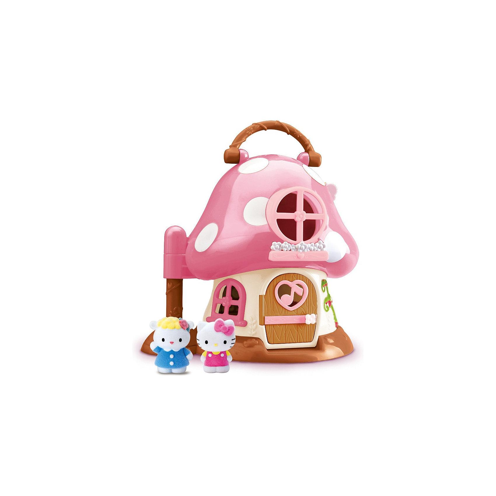 Уютный домик-грибочек Hello Kitty, Blue BoxУютный домик-грибочек Hello Kitty, Blue Box (Блю бокс) – это очаровательный домик для кошечки Китти и ее друзей.<br>Уютный домик из Велюровой коллекции(Vellutata) для кошечки Хелло Китти выполнен в форме грибочка. У грибочка сверху есть ручка, за которую ребенок сможет переносить домик вместе со всеми его обитателями. Домик раскрывается и перед нами предстает двухэтажное пространство домика, в котором есть все необходимое для жизни кошечки Китти и ее подруги – овечки Фифи. Розовая крыша домика сделана в виде шляпки гриба. На крыше есть круглое окошко. Внутри домика четыре комнаты. На первом этаже – кухня и гостиная. На кухне есть плита, мойка, и холодильник. Можно приготовить на плите в маленькой кастрюльке суп или пожарить в сковородочке омлет, а можно в духовке испечь тортик и устроить небольшой сладкий пир! В гостиной есть удобный диванчик и комод для вещей. На втором этаже располагаются спальня – с кроваткой, и кабинет, в котором стоит пианино со стульчиком. Кошечка Китти с удовольствием порадует слух своих друзей приятной музыкой, которую она разучила на днях. В набор также входят фигурки кошечки Китти и овечки Фифи, которые изготовлены из удивительного материала флок (велюр), бархатные на ощупь. Игрушка изготовлена из высококачественных материалов, которые совершенно безопасны для здоровья малышей.<br><br>Дополнительная информация:<br><br>- В наборе: домик, кровать, кровать, пианино, софа, комод, плита, книжная полка, кухня, фигурки Китти и Фифи<br>- Высота фигурок: 3,5 см.<br>- Раскладывающийся домик в виде грибочка имеет высоту 20 см и ширину 16 см в сложенном состоянии, в раскрытом виде соответственно 32см.<br>- Размер упаковки: 28x 18,5x 25,5 мм.<br><br>Уютный домик-грибочек Hello Kitty, Blue Box (Блю бокс) можно купить в нашем интернет-магазине.<br><br>Ширина мм: 280<br>Глубина мм: 185<br>Высота мм: 255<br>Вес г: 822<br>Возраст от месяцев: 36<br>Возраст до месяцев: 2147483647<br>Пол: Женский<br>Возраст: Детский<b