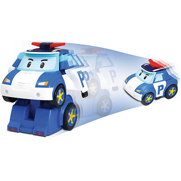 Игрушка Робот-трансформер Поли р/у, Робокар ПолиРадиоуправляемые машины<br>Робот-трансформер Поли - герой известного и любимого мультфильма Robocar Poli. Добрый полицейский Поли всегда рад прийти на помощь! Радиоуправляемая машинка легко трансформируется в робота, издавая при этом звук сирены и проигрывая 3 мелодии. Пульт управления имеет большие  кнопки, удобные для ребенка. Игрушка дополнена мигалкой как у настоящей полицеской машины. Прекрасная интерактивная машинка доставит много радости вашему ребенку.  Научит его быть более внимательным, поможет изучить правила дорожного движения. <br><br>Дополнительная информация:<br><br>- Размер упаковки: 24х16х18 см.<br>- Высота игрушки( в трансформации робота) - 20 см<br>- Комплектация:  машинка, пульт управления.<br>- Материал: пластик, металл<br>- Радиоуправляемая<br>- Управляется в форме машины и робота.<br>- Трансформируется с кнопки д/у<br>- Элементы питания: 4 батарейки типа AAA и 1 батарейка 6LR61-9V (приобретаются отдельно)<br>- Машина может двигаться в разных направлениях<br>- Звуковые эффекты: есть<br>- Световые эффекты: есть. <br><br>Игрушку Робот-трансформер Поли р/у, Робокар Поли можно купить в нашем магазине.<br><br>Ширина мм: 240<br>Глубина мм: 160<br>Высота мм: 180<br>Вес г: 900<br>Возраст от месяцев: 36<br>Возраст до месяцев: 84<br>Пол: Мужской<br>Возраст: Детский<br>SKU: 3861406