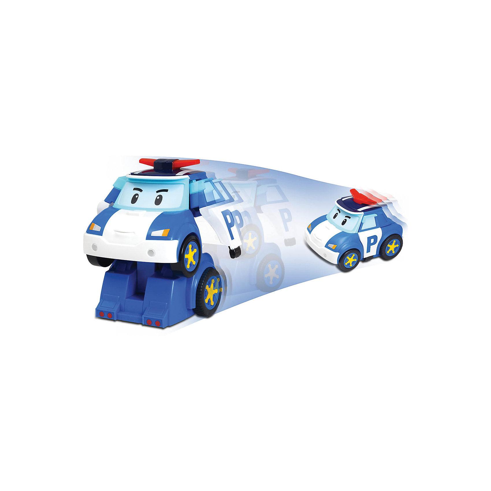 Игрушка Робот-трансформер Поли р/у, Робокар ПолиИгрушки<br>Робот-трансформер Поли - герой известного и любимого мультфильма Robocar Poli. Добрый полицейский Поли всегда рад прийти на помощь! Радиоуправляемая машинка легко трансформируется в робота, издавая при этом звук сирены и проигрывая 3 мелодии. Пульт управления имеет большие  кнопки, удобные для ребенка. Игрушка дополнена мигалкой как у настоящей полицеской машины. Прекрасная интерактивная машинка доставит много радости вашему ребенку.  Научит его быть более внимательным, поможет изучить правила дорожного движения. <br><br>Дополнительная информация:<br><br>- Размер упаковки: 24х16х18 см.<br>- Высота игрушки( в трансформации робота) - 20 см<br>- Комплектация:  машинка, пульт управления.<br>- Материал: пластик, металл<br>- Радиоуправляемая<br>- Управляется в форме машины и робота.<br>- Трансформируется с кнопки д/у<br>- Элементы питания: 4 батарейки типа AAA и 1 батарейка 6LR61-9V (приобретаются отдельно)<br>- Машина может двигаться в разных направлениях<br>- Звуковые эффекты: есть<br>- Световые эффекты: есть. <br><br>Игрушку Робот-трансформер Поли р/у, Робокар Поли можно купить в нашем магазине.<br><br>Ширина мм: 240<br>Глубина мм: 160<br>Высота мм: 180<br>Вес г: 900<br>Возраст от месяцев: 36<br>Возраст до месяцев: 84<br>Пол: Мужской<br>Возраст: Детский<br>SKU: 3861406