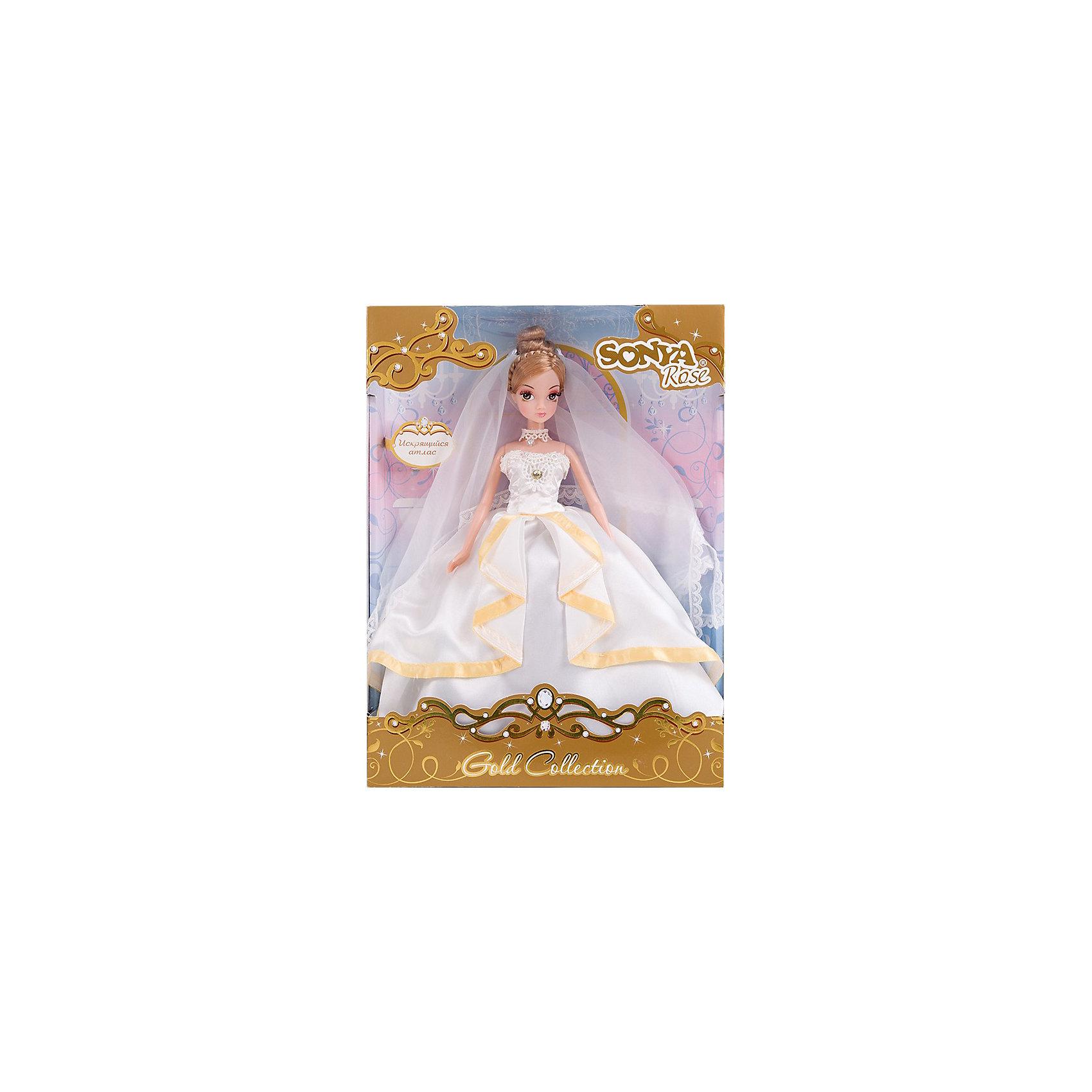 Кукла Искрящийся Атлас Золотая коллекция, Sonya RoseПрекрасная куколка станет любимой игрушкой каждой девочки. Имеет пропорциональное тело и тонкие черты лица. Большие глаза опушены шикарными ресницами. Куколки этой серии одеты в прекрасные платья, невероятно красивые и изысканные. Имеют длинные блестящие волосы, уложенные в стильные прически и изысканные аксессуары. Собери всех кукол серии, пусть они ходят друг к другу в гости, меняются аксессуарами и одеждой.<br><br>Дополнительная информация:<br><br>- Материал: пластик, текстиль<br>- Размер: 27 см<br>- Ножки, ручки, голова куклы - подвижные.<br><br>Куклу Искрящийся Атлас Золотая коллекция, Sonya Rose можно купить в нашем магазине.<br><br>Ширина мм: 230<br>Глубина мм: 70<br>Высота мм: 320<br>Вес г: 400<br>Возраст от месяцев: 36<br>Возраст до месяцев: 84<br>Пол: Женский<br>Возраст: Детский<br>SKU: 3861419