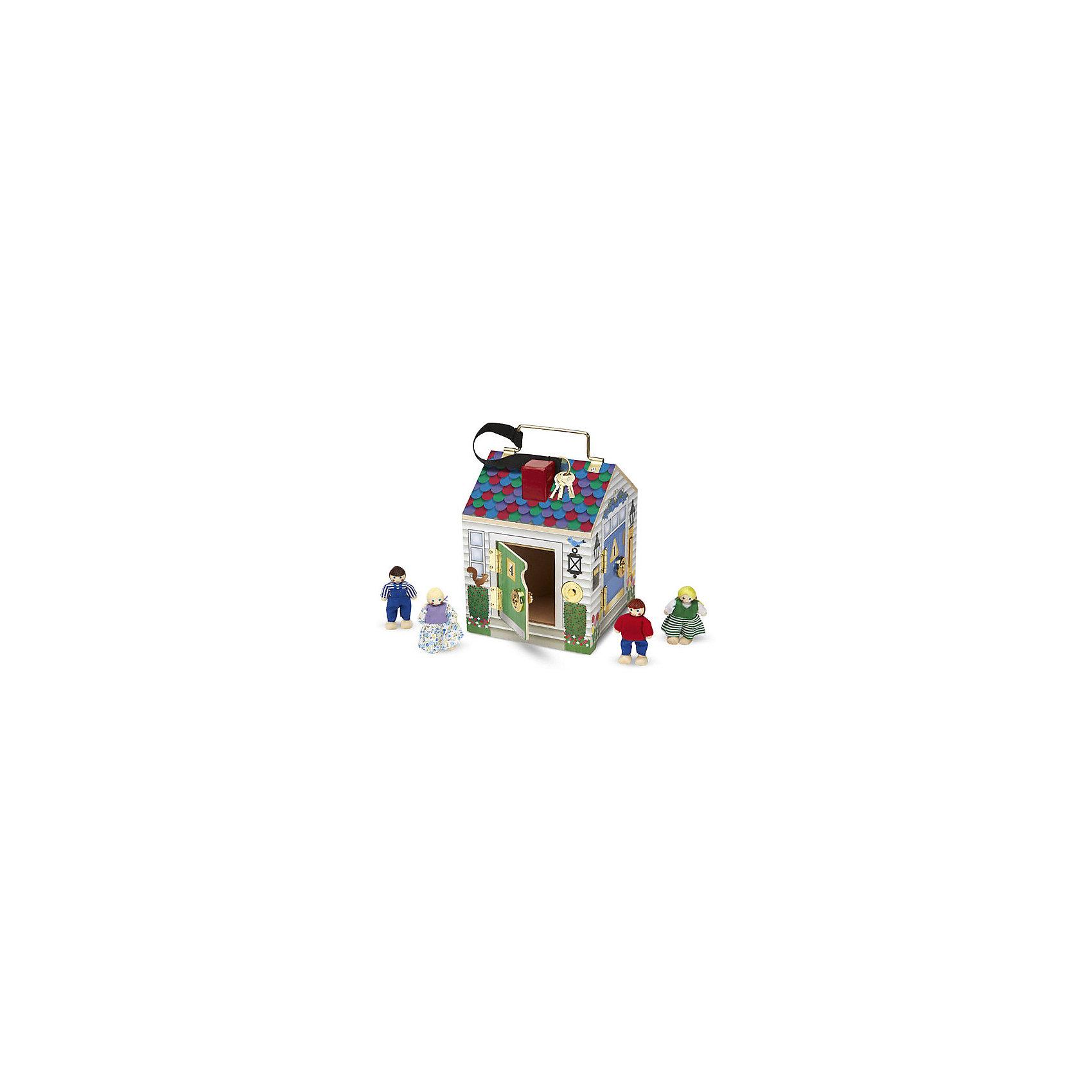 Игрушка Домик с замками, Melissa &amp; DougИгрушечные домики и замки<br>Игрушка Домик с замками, Melissa &amp; Doug - это настоящее приключение для маленьких исследователей! Маленькие дети обожают открывать ящики и искать новые уголки. Подарите малышу необыкновенный домик, в котором целых четыре комнаты, где его ожидают милые человечки. Замечательная игрушка надолго займет внимание малыша, ведь каждую дверку нужно открыть ключиком и предварительно позвонить в очаровательный звоночек. У каждого звоночка своя прекрасная  мелодия. Благодаря металлической ручке на крыше домик легко переносить. Его можно взять с собой на прогулку или в гости.  Прекрасный домик поможет укрепить детские пальчики, будет способствовать развитию мелкой моторики, воображения, внимания, стимулировать развитие мозга. Создайте свой мир вместе с  Melissa &amp; Doug!<br><br>Дополнительная информация:<br><br>- Потрясающие подарок;<br>- Отличный тренажер мелкой моторики;<br>- В комплекте: домик, 4 человечка, ключики; <br>- Красочный дизайн;<br>- Материал: дерево, прессованный картон, ПВХ;<br>- Для работы звонков необходимы батарейки: 2 шт. типа ААА (в комплект не входят);<br>- Размер игрушки: 17 х 22 х 17 см;<br>- Вес: 1,13 кг<br><br>Игрушку Домик с замками, Melissa &amp; Doug можно купить в нашем интернет-магазине.<br><br>Ширина мм: 170<br>Глубина мм: 170<br>Высота мм: 220<br>Вес г: 1133<br>Возраст от месяцев: 24<br>Возраст до месяцев: 60<br>Пол: Унисекс<br>Возраст: Детский<br>SKU: 3861953