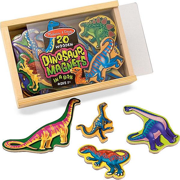 Магнитная игра Динозавры, Melissa &amp; DougОкружающий мир<br>Разнообразьте игры Вашего малыша с помощью магнитной игры Динозавры, Melissa &amp; Doug. Дети всех возрастов обожают динозавров, ведь они необычайно сильные и их размеры внушают трепет. Теперь изучать любимых рептилий стало проще! С помощью игры Динозавры Ваш малыш сможет не только в деталях рассмотреть динозавров разных видов, но и узнать много нового о каждом из них. Играть с динозаврами очень удобно, как на магнитной доске, так и на обычном холодильнике.  Просто развлекаясь, ребенок будет тренировать логику, воображение, моторику рук и конечно же память! Играйте и наслаждайтесь вместе с  Melissa &amp; Doug!<br><br>Дополнительная информация:<br><br>-  Способствует развитию мелкой моторики, воображения, логического мышления;<br>- Потрясающие подарок;<br>- Удобная коробочка для хранения;<br>- Красочный дизайн;<br>- Материал: натуральное дерево, безопасные краски;<br>- Размер упаковки: 20 х 4 х 14 см;<br>- Вес: 408 г<br><br>Магнитную игру Динозавры, Melissa &amp; Doug  можно купить в нашем интернет-магазине.<br>Ширина мм: 200; Глубина мм: 40; Высота мм: 140; Вес г: 408; Возраст от месяцев: 36; Возраст до месяцев: 60; Пол: Унисекс; Возраст: Детский; SKU: 3861962;