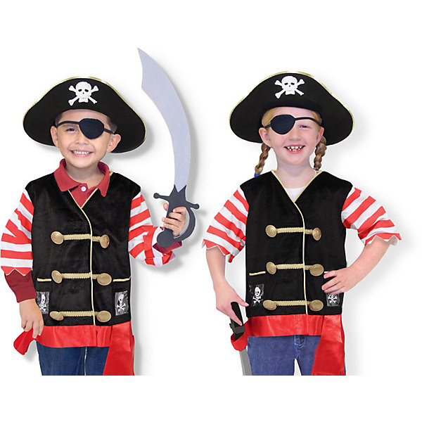 Карнавальный костюм Пират, Melissa &amp; DougКарнавальные костюмы для мальчиков<br>Дети обожают мультфильмы и перевоплощения! Подарите Вашему ребенку карнавальный костюм Пират, Melissa &amp; Doug и счастью не будет предела. Моряки и злодеи расступаются, когда на арену выступает Пират! Он смотрит на мир, как и положено пирату, одним глазом, но всегда готов к захватывающим приключениям. Его сабля острая, а пиратская шляпа внушает ужас капитанам торговых судов.  Карнавальный костюм Пират прекрасно подойдет  для ребенка 3-6 лет. Он будет хитом утренника в саду, новогодней вечеринки и забавной фотосессии. Подарите ребенку часы безграничной фантазии и суперсилы в костюме Пират, Melissa &amp; Doug !<br><br>Дополнительная информация:<br><br>- Карнавальный костюм для мальчика или девочки;<br>- В комплекте: полосатая кофточка, пиратская шляпа, повязка на глаз, бархатный жилет, пояс, сабля;<br>- Отлично подойдет для праздников, карнавалов, вечеринок;<br>- Необычный костюм;<br>- Красочный дизайн;<br>- Размер футболки: ширина: 38 см, длина: 55 см, длина рукава: 22 см;<br>- Размер упаковки: 44 х 5 х 50 см;<br>- Вес: 544 г<br><br>Карнавальный костюм Пират, Melissa &amp; Doug  можно купить в нашем интернет-магазине.<br>Ширина мм: 440; Глубина мм: 50; Высота мм: 500; Вес г: 544; Возраст от месяцев: 36; Возраст до месяцев: 72; Пол: Мужской; Возраст: Детский; SKU: 3861965;