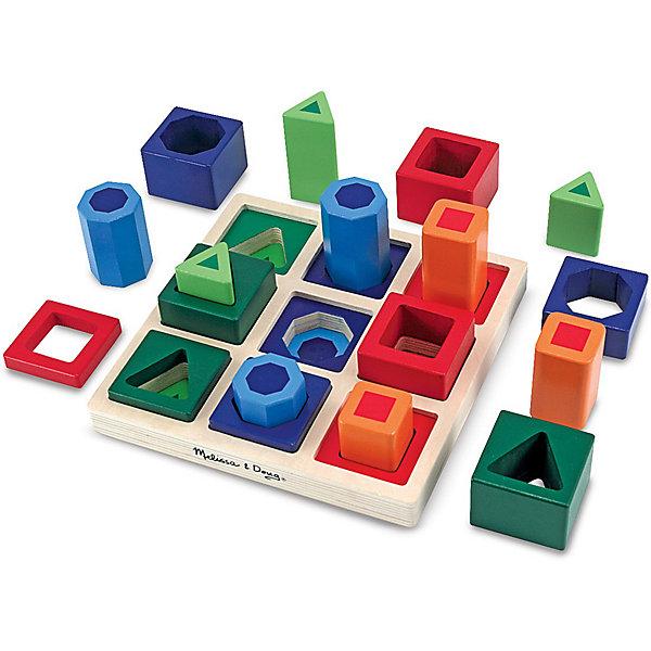 Игрушка Сортировщик, Melissa &amp; DougРазвивающие игрушки<br>Новое воплощение традиционной развивающей игрушки, которая обязательно увлечет Вашего малыша - красочная игрушка Сортировщик, Melissa &amp; Doug. Забавный сортировщик состоит из основания и 18 деталей разной формы и размера.  Деревянная игрушка сделана с особой тщательностью, все детали гладкие и хорошо подогнаны под отверстия. Экологически безопасный и приятный живой материал хорошо обработан и окрашен нетоксичными красителями. Сначала просто перебирая, затем помещая детали в нужные отверстия, подбирая их по размеру, цвету или форме малыш на практике изучит понятия больше-меньше, выучит цвета и формы. Играя, малыш тренирует мелкую моторику, внимательность, логическое мышление. Играйте и наслаждайтесь вместе с  Melissa &amp; Doug!<br><br>Дополнительная информация:<br><br>- Замечательный яркий сортер;<br>- Потрясающие подарок для малышей;<br>- Отличный тренажер мелкой моторики;<br>- Красочный дизайн;<br>- Материал: натуральное дерево, безопасная краска;<br>- Размер упаковки: 21 х 8 х 21 см;<br>- Вес: 997 г<br><br>Игрушку Сортировщик, Melissa &amp; Doug  можно купить в нашем интернет-магазине.<br>Ширина мм: 210; Глубина мм: 80; Высота мм: 210; Вес г: 997; Возраст от месяцев: 36; Возраст до месяцев: 60; Пол: Унисекс; Возраст: Детский; SKU: 3861968;
