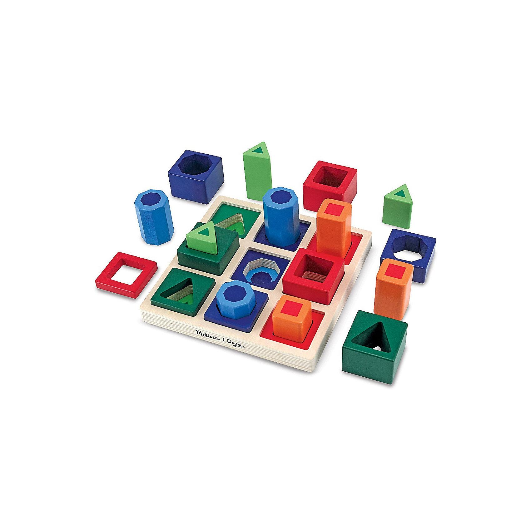 Игрушка Сортировщик, Melissa &amp; DougСортеры<br>Новое воплощение традиционной развивающей игрушки, которая обязательно увлечет Вашего малыша - красочная игрушка Сортировщик, Melissa &amp; Doug. Забавный сортировщик состоит из основания и 18 деталей разной формы и размера.  Деревянная игрушка сделана с особой тщательностью, все детали гладкие и хорошо подогнаны под отверстия. Экологически безопасный и приятный живой материал хорошо обработан и окрашен нетоксичными красителями. Сначала просто перебирая, затем помещая детали в нужные отверстия, подбирая их по размеру, цвету или форме малыш на практике изучит понятия больше-меньше, выучит цвета и формы. Играя, малыш тренирует мелкую моторику, внимательность, логическое мышление. Играйте и наслаждайтесь вместе с  Melissa &amp; Doug!<br><br>Дополнительная информация:<br><br>- Замечательный яркий сортер;<br>- Потрясающие подарок для малышей;<br>- Отличный тренажер мелкой моторики;<br>- Красочный дизайн;<br>- Материал: натуральное дерево, безопасная краска;<br>- Размер упаковки: 21 х 8 х 21 см;<br>- Вес: 997 г<br><br>Игрушку Сортировщик, Melissa &amp; Doug  можно купить в нашем интернет-магазине.<br><br>Ширина мм: 210<br>Глубина мм: 80<br>Высота мм: 210<br>Вес г: 997<br>Возраст от месяцев: 36<br>Возраст до месяцев: 60<br>Пол: Унисекс<br>Возраст: Детский<br>SKU: 3861968