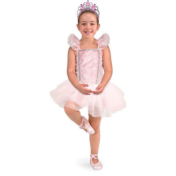 Карнавальный костюм  Балерина, Melissa &amp; DougКарнавальные костюмы для девочек<br>Все девочки обожают перевоплощения и танцы! Подарите Вашей девочке карнавальный костюм Балерина, Melissa &amp; Doug и счастью не будет предела. Балерины воплощение красоты и грации! Возможно только примерив замечательный костюм и тиару девочка захочет сама заниматься балетом. Карнавальный костюм Балерина прекрасно подойдет  для девочки 3-6 лет. Он будет хитом утренника в саду, новогодней вечеринки и забавной фотосессии. Подарите ребенку часы безграничной фантазии и творчества в костюме Балерина, Melissa &amp; Doug !<br><br>Дополнительная информация:<br><br>- Карнавальный костюм для девочки;<br>- В комплекте: платье балерины, пуанты, тиара;<br>- Отлично подойдет для праздников, карнавалов, вечеринок;<br>- Необычный костюм;<br>- Красочный дизайн;<br>- Размер упаковки: 46 х 2 х 60 см;<br>- Вес: 589 г<br><br>Карнавальный костюм  Балерина, Melissa &amp; Doug  можно купить в нашем интернет-магазине.<br><br>Ширина мм: 460<br>Глубина мм: 20<br>Высота мм: 600<br>Вес г: 589<br>Возраст от месяцев: 36<br>Возраст до месяцев: 72<br>Пол: Женский<br>Возраст: Детский<br>SKU: 3861972