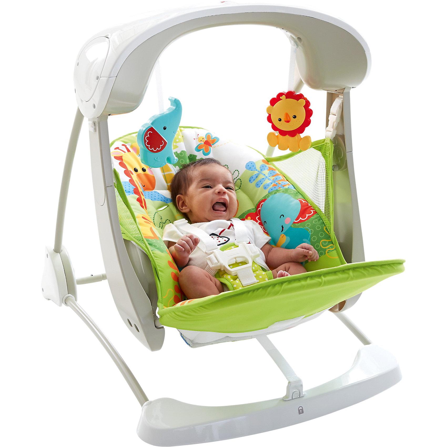 Mattel Переносное кресло-качели Друзья из тропического леса, Fisher-price