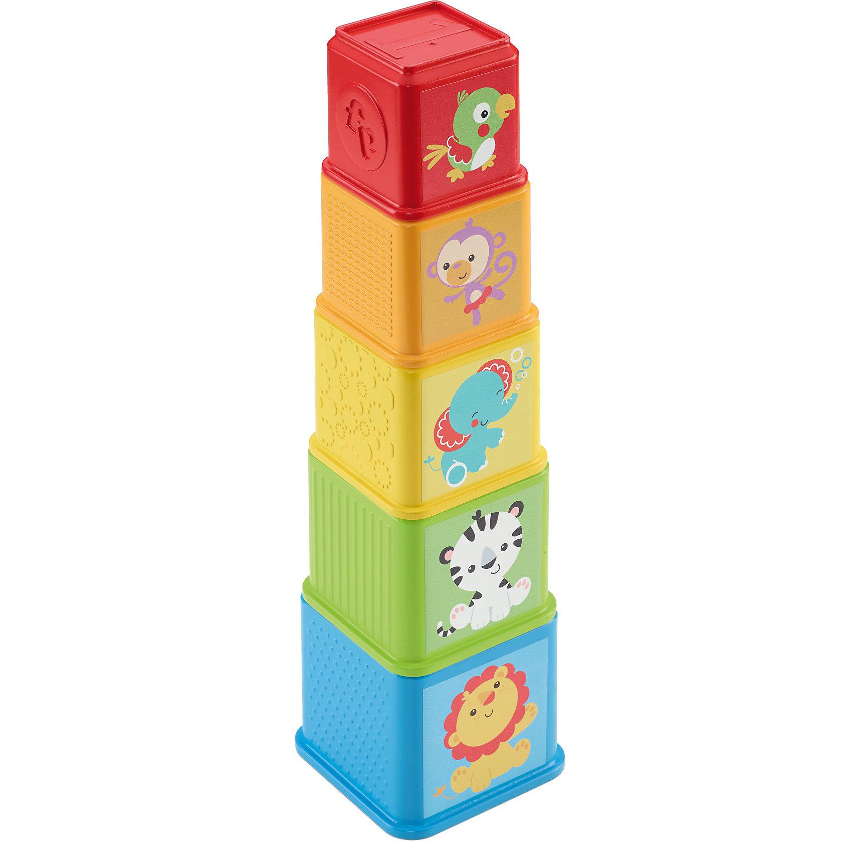 Разноцветная Пирамидка, Fisher-PriceРазноцветная Пирамидка, Fisher-Price (Фишер Прайс)<br><br>Разноцветная Пирамидка отлично подойдет детям дошкольного возраста. Из этих деталей в виде стаканчиков можно выстроить пирамиду, а можно вложить их один в другой! Детали окрашены в разные цвета, имеют приятную фактуру. На стаканчиках нарисованы цифры, звери и предметы. Такая игрушка помогает развить воображение, координацию движений и осваивать счет. <br>Пирамидка изготовлена из высококачественных, легких и безопасных для детей материалов, детали окрашены яркими красителями, устойчивыми к выгоранию и истиранию. В комплекте - пять разных стаканчиков.<br><br>Дополнительная информация:<br><br>цвет: разноцветный;<br>материал: пластик;<br>комплектация: 5 деталей.<br><br>Разноцветная Пирамидка, Fisher-Price (Фишер Прайс) можно купить в нашем магазине.<br><br>Ширина мм: 205<br>Глубина мм: 115<br>Высота мм: 94<br>Вес г: 260<br>Возраст от месяцев: 6<br>Возраст до месяцев: 18<br>Пол: Унисекс<br>Возраст: Детский<br>SKU: 3863148