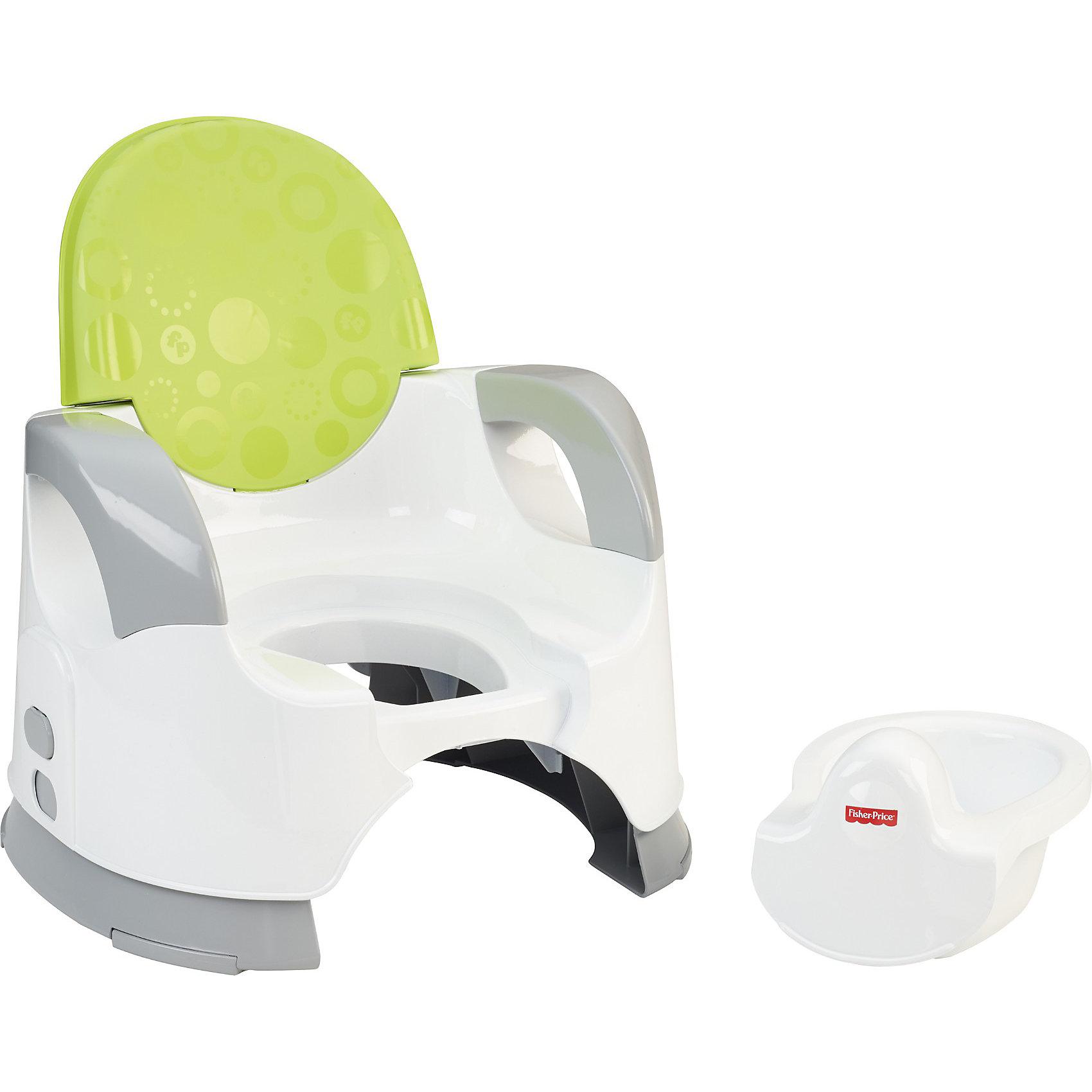 Зеленый горшок Удобство и комфорт, Fisher-price (Mattel)