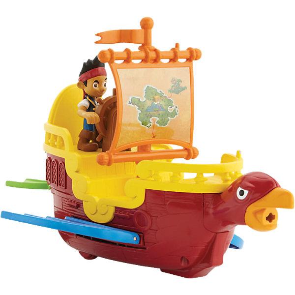 Пиратский Корабль Парящий Фрегат, Fisher Price, Джейк и пираты НетландииКорабли и лодки<br>Характеристики:<br><br>• Вид игр: сюжетно-ролевые игры<br>• Пол: для мальчиков<br>• Материал: пластик<br>• Цвет: в ассортименте<br>• Комплектация: фигурка Джейка, фрегат, фигурка попугая<br>• Размер (Д*Ш*В): 35*10*25,5 см<br>• Вес: 500 г<br>• Серия: Джейк и пираты Нетландии<br><br>Пиратский Корабль Парящий Фрегат, Fisher Price, Джейк и пираты Нетландии включает в себя фигурку популярного героя мультсериала – Джейка и парящий фрегат. В наборе также имеется фигурка попугая. Фигурки персонажей и аксессуары выполнены с высокой точностью соответствия прототипам. Игровые элементы изготовлены из безопасного и прочного пластика.  Сюжетно-ролевые игры с набором позволят не только воссоздать наиболее понравившиеся сюжеты из сериала, но и придумать свою историю с ловким и смелым героем.<br><br>Пиратский Корабль Парящий Фрегат, Fisher Price, Джейк и пираты Нетландии можно купить в нашем интернет-магазине.<br><br>Ширина мм: 358<br>Глубина мм: 109<br>Высота мм: 231<br>Вес г: 541<br>Возраст от месяцев: 36<br>Возраст до месяцев: 60<br>Пол: Унисекс<br>Возраст: Детский<br>SKU: 3863175