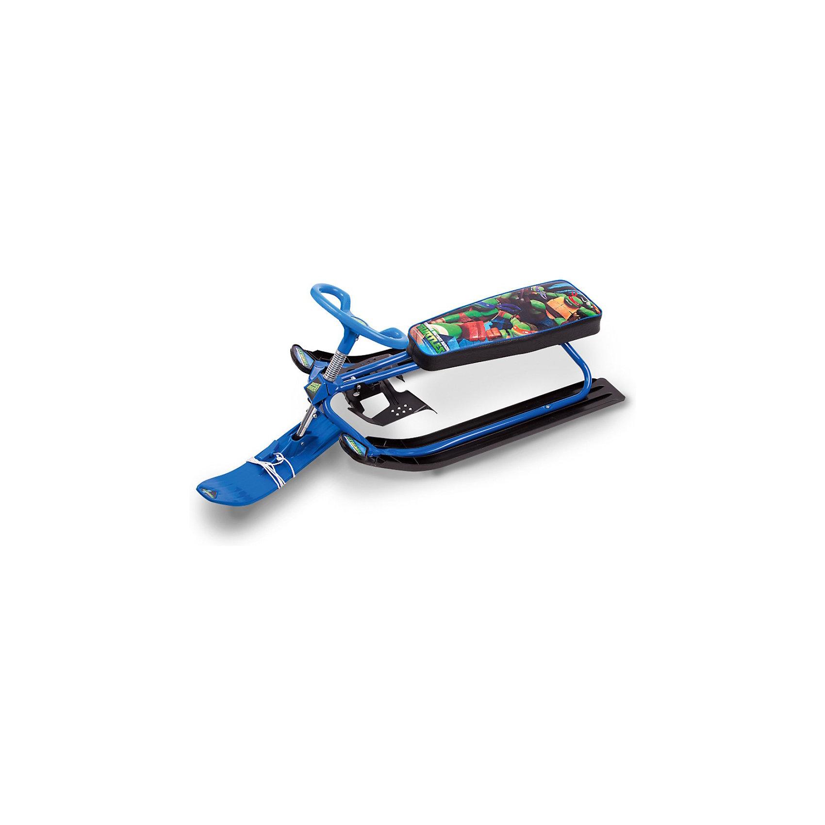Снегокат, синийХарактеристики снегоката:<br><br>• Предназначение: для зимних подвижных игр<br>• Пол: для мальчика<br>• Цвет: синий, черный<br>• Материал: пластик, текстиль, металл<br>• Количество посадочных мест: 2<br>• Максимально допустимая нагрузка: 50 кг<br>• Тип руля: поворотный, управляемый<br>• Посадочное место: мягкое<br>• Наличие подножки<br>• Наличие тормоза<br>• Наличие буксировочного троса<br>• Размеры: 1 м 18 см*50*42,5 см<br>• Вес: 6 кг<br><br>Для любителей зимних подвижных подвижных игр на свежем воздухе отечественный торговый бренд Gulliver предлагает снегокат повышенной комфортности и безопасности. Выполненный из ударопрочных и безопасных материалов, он, тем не менее, имеет легкий вес, что обеспечивает его маневренность. Модель снегоката сконструирована таким образом, что на нем можно кататься как с горок, так и по ровной снежной поверхности. Высокая устойчивость и защита от переворачивания обеспечивается ширпокими полозьями. Производители также предусмотрели яркий дизайн – мягкое текстильное сидение, выполненное из морозоустойчивого материала, оформлено принтом с любимыми героями всех мальчишек – Черепашками Ниндзя.<br><br>Снегокат, синий, Gulliver доставит удовольствие на зимних прогулках не только вашему ребенку, но и его друзьям!<br><br>Снегокат, синий, Gulliver можно купить в нашем интернет-магазине.<br><br>Подробнее:<br>Для детей в возрасте: от 3 и до 7 лет<br>Номер товара: 3866279<br>Страна производитель: Россия<br><br>Ширина мм: 860<br>Глубина мм: 510<br>Высота мм: 260<br>Вес г: 6000<br>Возраст от месяцев: 36<br>Возраст до месяцев: 84<br>Пол: Унисекс<br>Возраст: Детский<br>SKU: 3866279