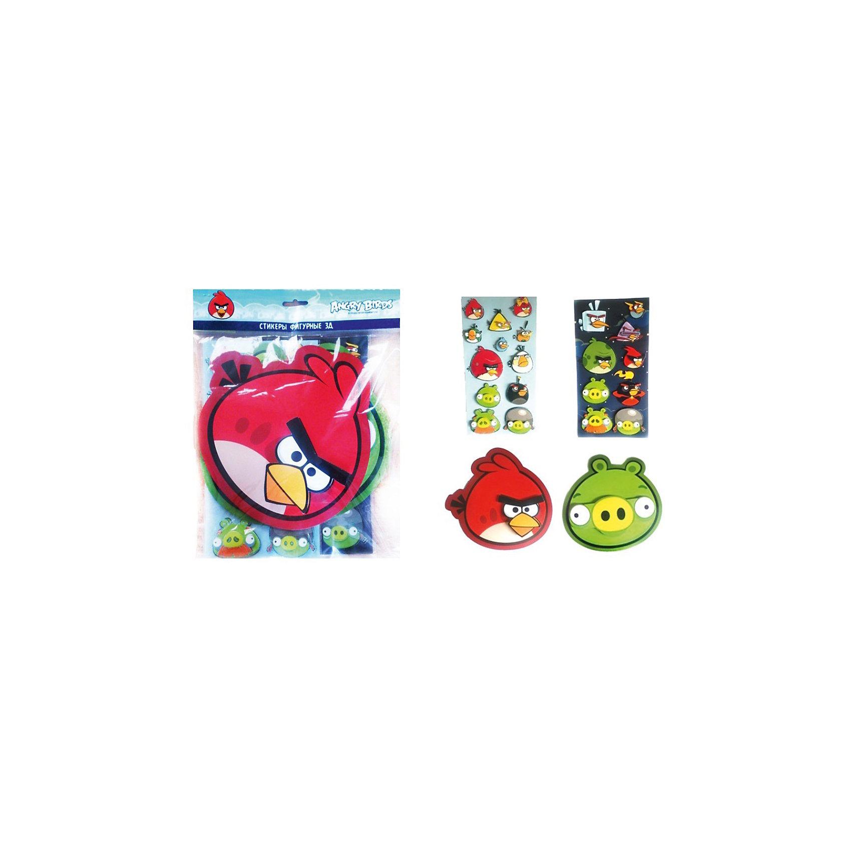 CENTRUM Большой набор наклеек 3D, Angry Birds игровой набор angry birds telepods сражение