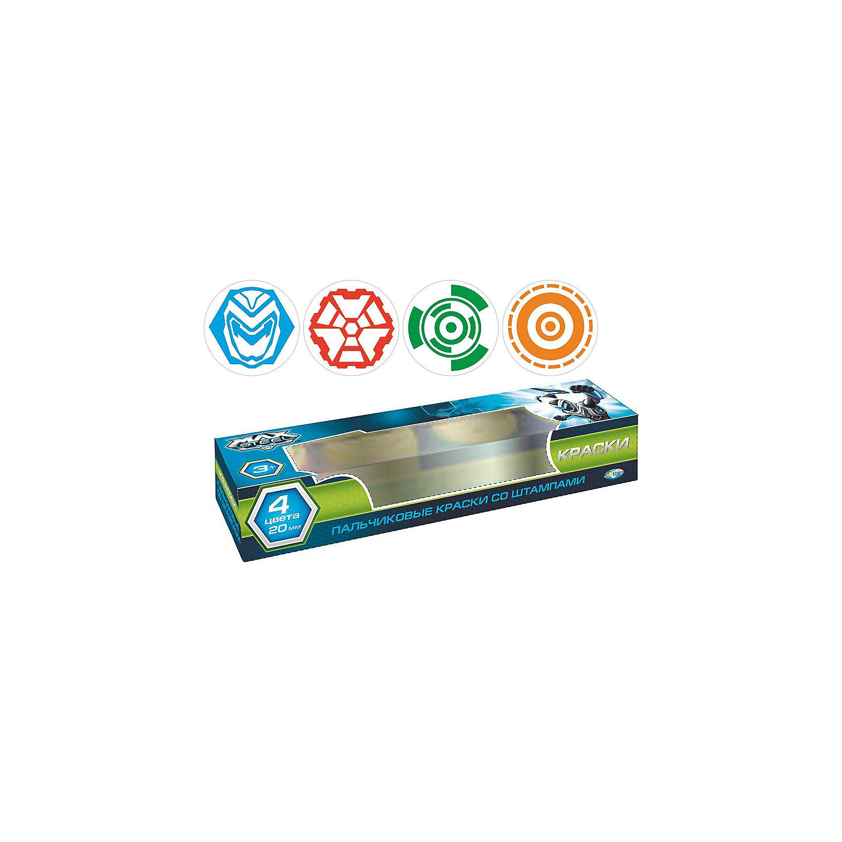 CENTRUM Большой набор пальчиковых красок, Max Steel набор для детского творчества centrum объемная картинка