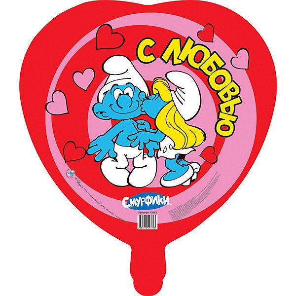 Шар Влюбленные смурфики, СмурфикиСмурфики<br>Фигурный шар в форме сердца «Влюбленные смурфики» станет отличным украшением интерьера и забавной игрушкой для вашего ребенка. Прекрасный яркий аксессуар обязательно порадует вашего малыша и создаст атмосферу праздника.<br><br>Дополнительная информация:<br><br>- Размер: d - 46 см.<br>- Форма: круг.<br>- Материал: миларовая пленка.<br>- Надувается гелием.<br>- Поставляется в сдутом виде.<br><br>Шар Влюбленные смурфики, Смурфики, можно купить в нашем магазине.<br><br>Ширина мм: 530<br>Глубина мм: 460<br>Высота мм: 1<br>Вес г: 10<br>Возраст от месяцев: 36<br>Возраст до месяцев: 84<br>Пол: Унисекс<br>Возраст: Детский<br>SKU: 3868075