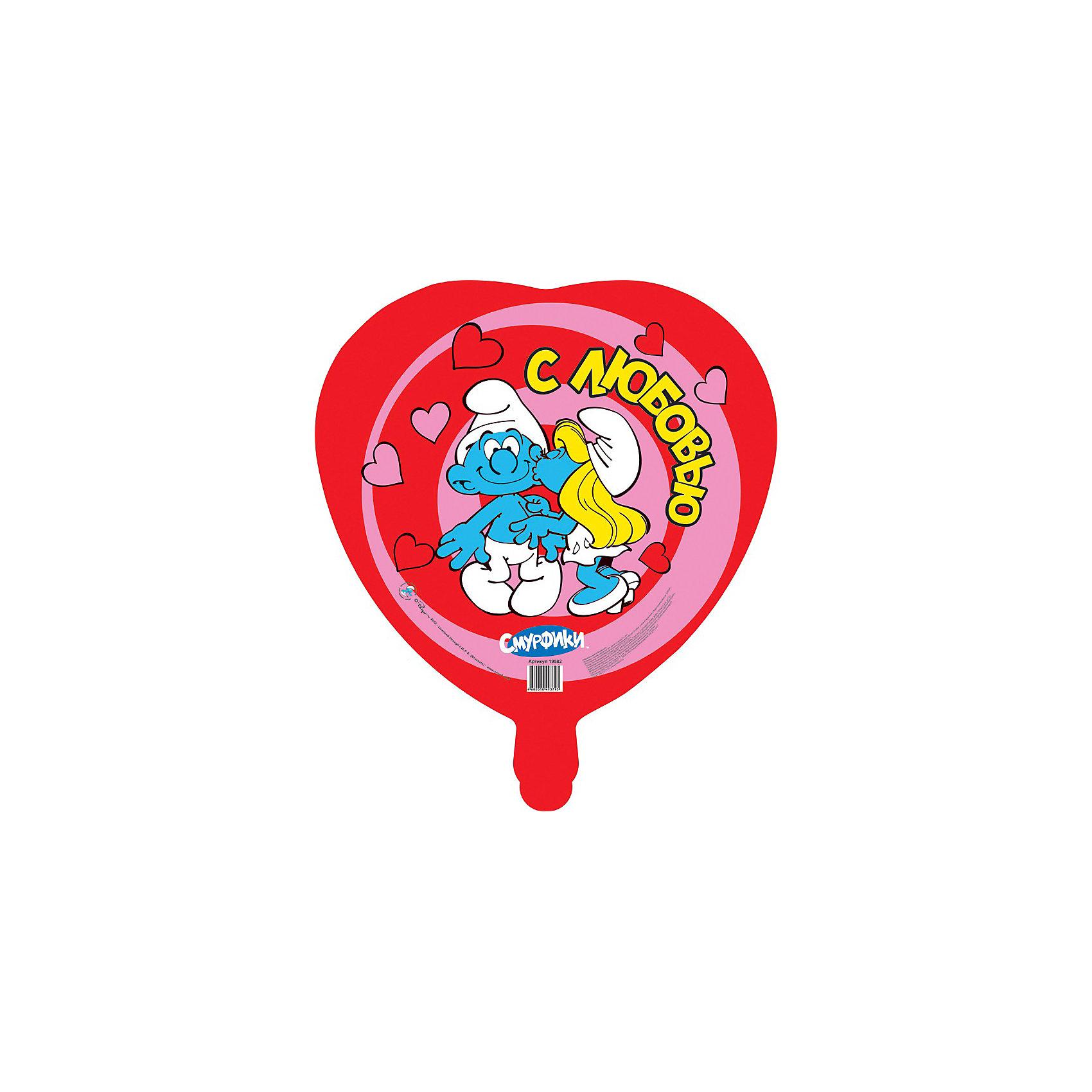 Шар Влюбленные смурфики, СмурфикиФигурный шар в форме сердца «Влюбленные смурфики» станет отличным украшением интерьера и забавной игрушкой для вашего ребенка. Прекрасный яркий аксессуар обязательно порадует вашего малыша и создаст атмосферу праздника.<br><br>Дополнительная информация:<br><br>- Размер: d - 46 см.<br>- Форма: круг.<br>- Материал: миларовая пленка.<br>- Надувается гелием.<br>- Поставляется в сдутом виде.<br><br>Шар Влюбленные смурфики, Смурфики, можно купить в нашем магазине.<br><br>Ширина мм: 530<br>Глубина мм: 460<br>Высота мм: 1<br>Вес г: 10<br>Возраст от месяцев: 36<br>Возраст до месяцев: 84<br>Пол: Унисекс<br>Возраст: Детский<br>SKU: 3868075