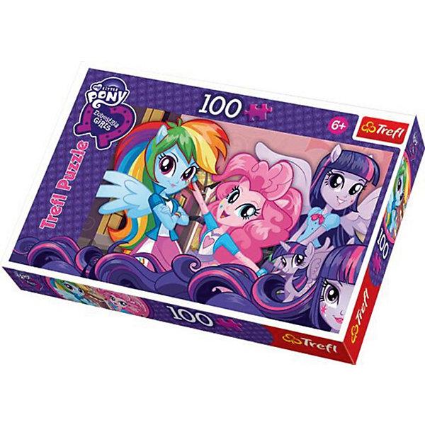 Пазл My little Pony, 100 деталей, TreflПазлы для малышей<br>Пазл от Trefl с изображением героинь мега-популярного мультсериала My Little Pony (Моя маленькая Пони) станет отличным подарком ребенку от 6 лет.  В комплекте 100 деталей. <br>Trefl славится отличным качеством – идеальная прорезка деталей, высокая степень детализации изображения, яркие насыщенные цвета, полное совпадение шаблона на коробке с итоговой картинкой. С таким качеством сборка пазла будет в удовольствие. <br>Пазлы развивают у детей усидчивость, терпение, целеустремленность, мелкую моторику, пространственное мышление, логику, воображение.<br><br>Дополнительная информация:<br><br>Количество деталей: 100<br>Размер готовой картинки: 41 x 27,8 см.<br><br>Пазл My Little Pony (Моя маленькая Пони), 100 деталей, Trefl  можно купить в нашем магазине.<br><br>Ширина мм: 289<br>Глубина мм: 192<br>Высота мм: 43<br>Вес г: 312<br>Возраст от месяцев: 72<br>Возраст до месяцев: 96<br>Пол: Женский<br>Возраст: Детский<br>Количество деталей: 100<br>SKU: 3869039