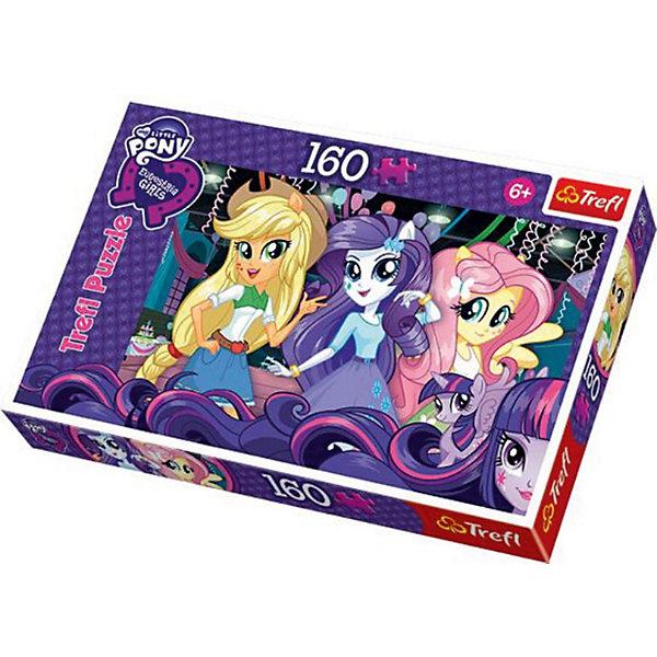 Пазл На балу. Equestria Girls, 160 деталей, TreflMy little Pony<br>Девочки из Эквестрии собрались на бал и ждут не дождутся, когда ваш малыш сложит пазл, чтобы героини оказались, наконец, вместе! <br>160 приятных на ощупь деталей легко сцепляются друг с другом, а материал, из которого они сделаны, прошел строгий контроль качества и совершенно безопасен для детей!  <br>Equestria Girls — один из любимых мультфильмов девочек, поэтому юная собирательница пазлов с радостью украсит готовым изображением свою комнату! Сборка пазлов улучшает мелкую моторику, логические навыки и отлично поднимает настроение. <br>Отправляйтесь на бал вместе с девочками из Эквестрии!<br><br>Дополнительная информация:<br><br>Количество деталей: 160<br>Размер готовой картинки: 41 х 27,8 см. <br><br>Пазл На балу. Equestria Girls, 160 деталей, Trefl  можно купить в нашем магазине.<br><br>Ширина мм: 287<br>Глубина мм: 198<br>Высота мм: 43<br>Вес г: 315<br>Возраст от месяцев: 84<br>Возраст до месяцев: 108<br>Пол: Женский<br>Возраст: Детский<br>Количество деталей: 160<br>SKU: 3869046