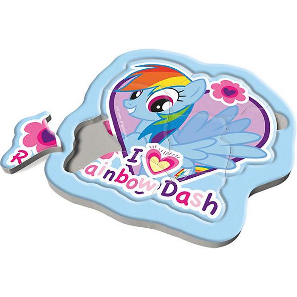 Пазлы Trefl Радужные пони, 8 элементовMy little Pony<br>Радужные пони – это маленькие удивительные лошадки, живущие высоко в небе, среди пушистых облаков, рядом с радугой и солнцем. Днем они любят резвиться посреди неба, а вечером танцуют со звездочками. Создайте свою волшебную историю про радужных пони, собирая кусочки пазлов в картинку, и ребенок будет счастлив.<br>Эти маленькие кусочки, изготовленные из высококачественного картона, научат ребенка доводить начатое до конца и не бояться сложностей, а также разовьют память и усидчивость.<br>Материал изделия: высококачественный картон. <br>Размер упаковки: 21,5 х 21,5 х 10 см<br>Размер собранной картинки: 21,3 x 21,3 см <br>Предназначено для детей старше 2 лет.<br>Ширина мм: 220; Глубина мм: 220; Высота мм: 15; Вес г: 227; Возраст от месяцев: 24; Возраст до месяцев: 48; Пол: Женский; Возраст: Детский; Количество деталей: 8; SKU: 3869078;