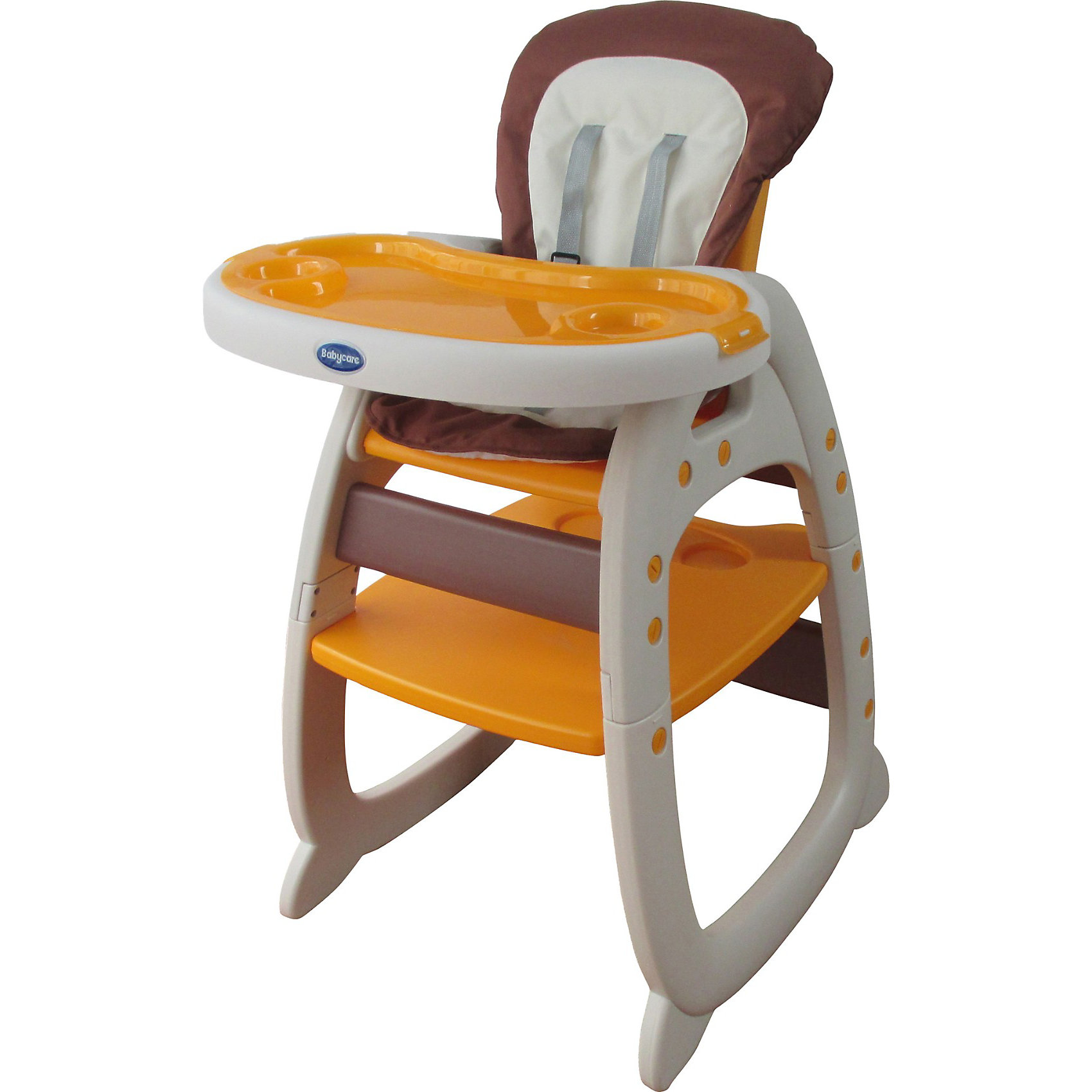 Стульчик-трансформер O-ZONE, Baby Care, бежевыйХарактеристики:<br><br>• комплект O-ZONE используется как стульчик для кормления и как столик со стульчиком;<br>• конструкция: трансформер;<br>• регулируется спинка: 3 положения;<br>• регулируется глубина столешницы: 3 положения;<br>• имеются 5-ти точечные ремни безопасности;<br>• съемный поднос с углублениями для посуды;<br>• съемные чехлы: стираются при температуре 30 градусов;<br>• материал: пластик, полиэстер (моющееся покрытие);<br>• размер стульчика: 65,5х72х106 см;<br>• вес: 7,6 кг.<br><br>Стульчик-трансформер для кормления малыша и использования как парты со стульчиком – комплект 2в1 для детей в возрасте от 6 месяцев до 3-х лет. Стульчик оснащен ремнями безопасности, имеет регулируемые угол наклона спинки и глубины столешницы. Компактно складывается для хранения и транспортировки. <br><br>Стульчик-трансформер O-ZONE, Baby Care, бежевый можно купить в нашем интернет-магазине.<br><br>Ширина мм: 660<br>Глубина мм: 270<br>Высота мм: 550<br>Вес г: 8700<br>Цвет: бежевый<br>Возраст от месяцев: 6<br>Возраст до месяцев: 36<br>Пол: Унисекс<br>Возраст: Детский<br>SKU: 3872046