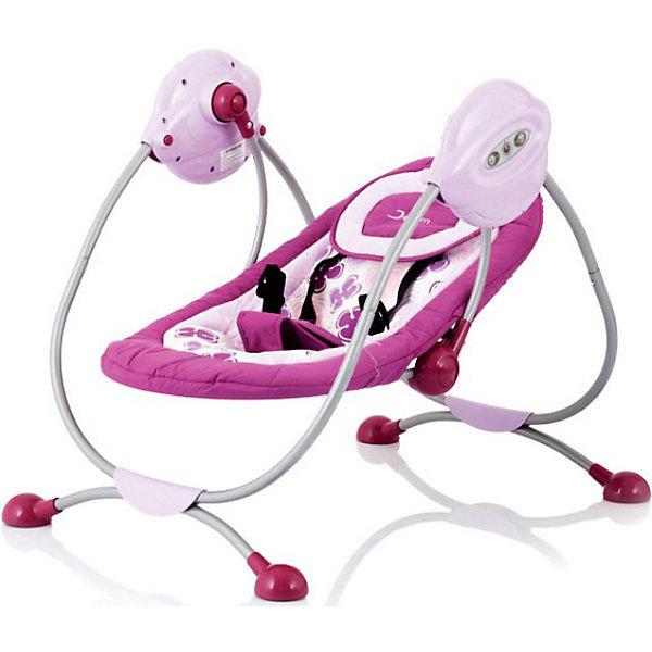 Электрокачели Surf с адаптером, Jetem, сиреневыйДетские качели для дома<br>Комфортные электрокачели для малышей. Есть 3 скорости укачивания и музыкальный блок с 3-мя мелодиями - все самое необходимое, чтобы успокоить ребенка перед сном. Спинку сидения можно регулировать в двух положениях: от комфортного горизонтального для младенца, до полулежачего для уже подросшего малыша. 5-точечные ремни безопасности надежно зафиксируют ребенка в кресле, при этом не стеснив его движений. Съемный чехол легко стирается. Для удобства родителей качели оснащены таймером для остановки. <br><br>Дополнительная информация:<br><br>Рекомендованы для детей c рождения до 6 месяцев (весом до 11 кг)<br>Электронный музыкальный блок с 3-мя мелодиями (работает от 4 батареек типа LR14 или от сети);<br>Размер разложенного спального места: 74х40 см.<br>Размер качелей: 60х58х73 см<br>Вес качелей 5 кг.<br>Адаптер для подключения к электросети в комплект<br><br><br><br>Электрокачели Surf с адаптером, Jetem (Жетем), сиреневый можно купить в нашем магазине.<br>Ширина мм: 730; Глубина мм: 580; Высота мм: 600; Вес г: 16000; Цвет: сиреневый; Возраст от месяцев: 0; Возраст до месяцев: 6; Пол: Унисекс; Возраст: Детский; SKU: 3872050;