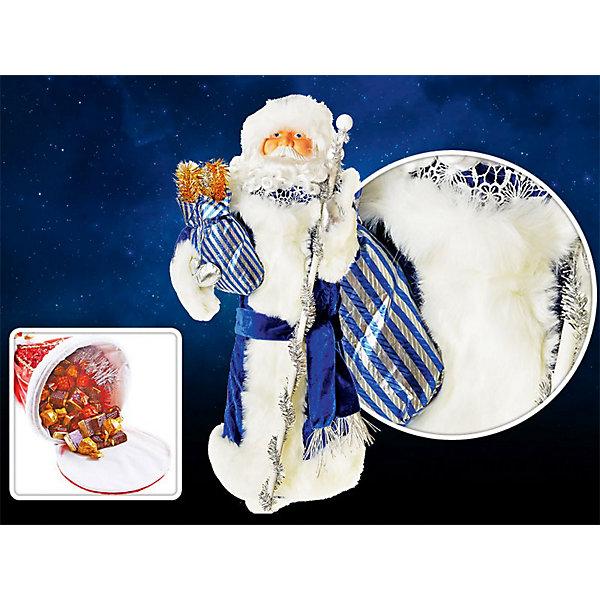 Декоративная кукла Дед Мороз, 25х70 см, TUKZARЁлочные игрушки<br>Декоративная кукла Дед Мороз, Tukzar (Тукзар) станет замечательным украшением Вашего новогоднего интерьера и приятным сувениром для родных и друзей. Дед Мороз одет в синий традиционный кафтан, в руках мешок с подарками. Основание фигурки на молнии, поэтому внутри ее можно наполнить конфетами и сладостями. Поставленный под елку Дед Мороз порадует и взрослых и детей и поможет создать волшебную атмосферу новогодних праздников.<br>Конфеты в комплект не входят.<br><br>Дополнительная информация:<br><br>- Размер фигурки: 25 х 70 см.<br>- Размер упаковки: 25 х 25 х 70 см.<br>- Вес: 0,762 кг. <br><br>Декоративную куклу Дед Мороз, Tukzar (Тукзар) можно купить в нашем интернет-магазине.<br>Ширина мм: 250; Глубина мм: 250; Высота мм: 700; Вес г: 751; Возраст от месяцев: 36; Возраст до месяцев: 168; Пол: Унисекс; Возраст: Детский; SKU: 3875831;