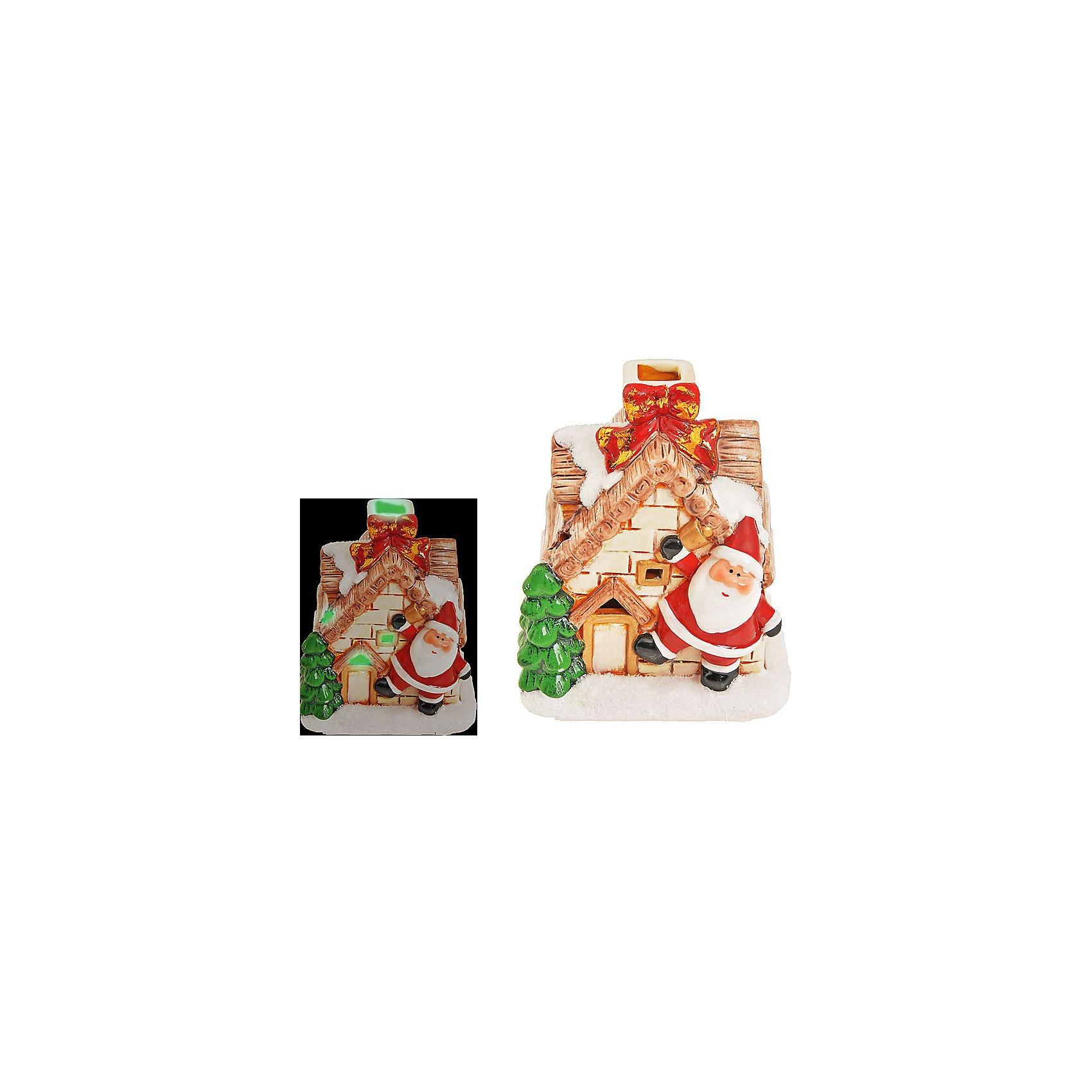 Керамический сувенир Домик с подсветкой, TUKZARКерамический сувенир Домик, Tukzar (Тукзар) станет замечательным украшением Вашего новогоднего интерьера и приятным подарком для родных и друзей. Сувенир выполнен в форме симпатичного заснеженного домика с фигуркой Деда Мороза. Сказочный домик с подсветкой порадует и взрослых и детей и поможет создать волшебную атмосферу новогодних праздников. <br><br>Дополнительная информация:<br><br>- Материал: керамика.<br>- Размер: 9 x 7 x 11 см.<br>- Вес: 240 гр. <br><br>Сувенир керамический Домик с подсветкой, Tukzar (Тукзар) можно купить в нашем интернет-магазине.<br><br>Ширина мм: 90<br>Глубина мм: 70<br>Высота мм: 110<br>Вес г: 240<br>Возраст от месяцев: 36<br>Возраст до месяцев: 168<br>Пол: Унисекс<br>Возраст: Детский<br>SKU: 3875834