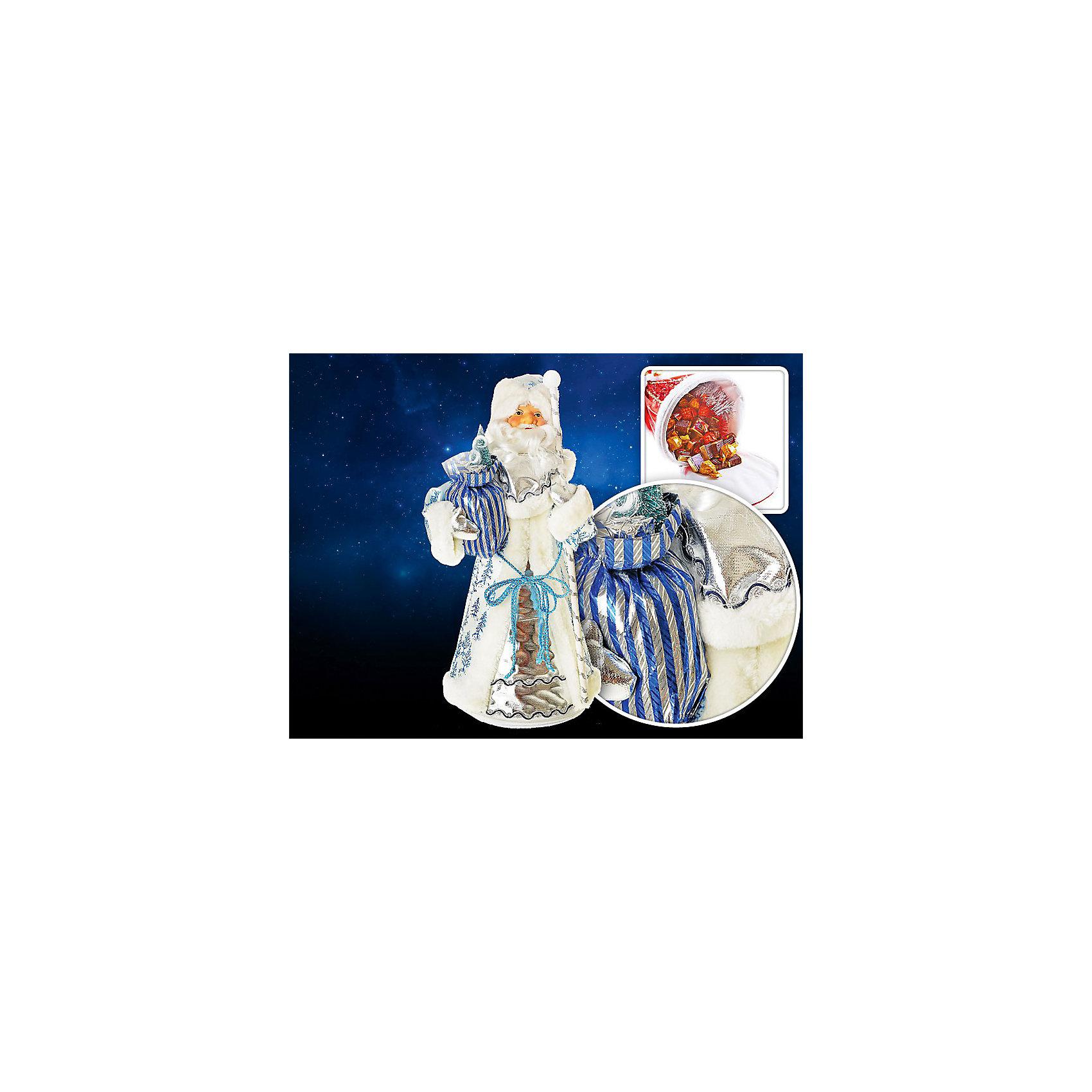 Декоративная кукла Дед Мороз, TUKZARВсё для праздника<br>Декоративная кукла Дед Мороз, Tukzar (Тукзар) станет замечательным украшением Вашего новогоднего интерьера и приятным сувениром для родных и друзей. Дед Мороз одет в нарядную белую шубу с голубыми узорами, в руках мешок с подарками. Лицо фигурки керамическое, основание на молнии, поэтому внутри ее можно наполнить конфетами и сладостями. Поставленный под елку Дед Мороз порадует и взрослых и детей и поможет создать волшебную атмосферу новогодних праздников.<br>Конфеты в комплект не входят.<br><br>Дополнительная информация:<br><br>- Размер фигурки: 21 х 55 см.<br>- Размер упаковки: 21 х 21 х 55 см.<br>- Вес: 0,650 кг. <br><br>Декоративную куклу Дед Мороз, Tukzar (Тукзар) можно купить в нашем интернет-магазине.<br><br>Ширина мм: 210<br>Глубина мм: 210<br>Высота мм: 550<br>Вес г: 650<br>Возраст от месяцев: 36<br>Возраст до месяцев: 168<br>Пол: Унисекс<br>Возраст: Детский<br>SKU: 3875845