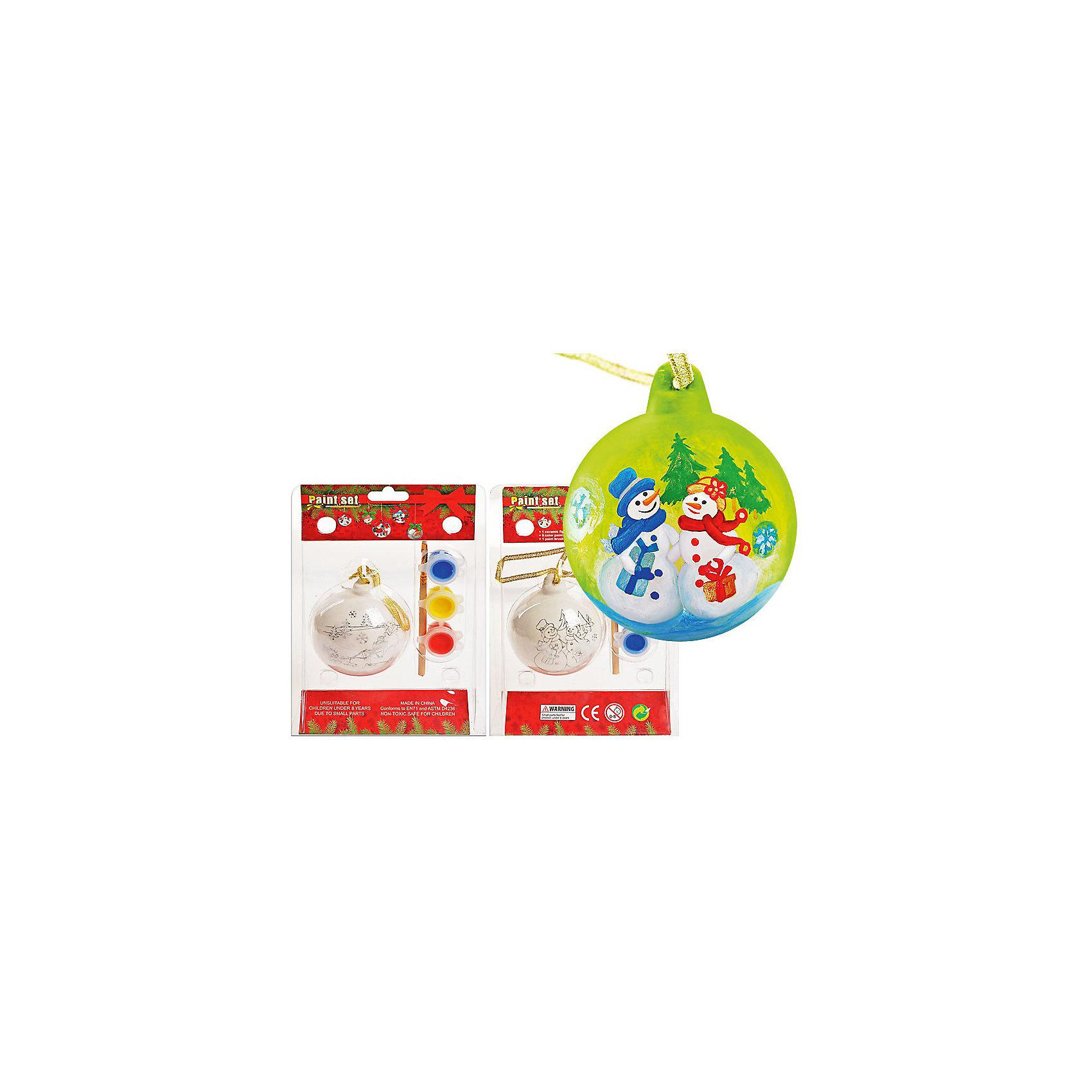 Керамический сувенир для раскрашивания Елочный шар, TUKZARКерамический сувенир для раскрашивания  Елочный шар, Tukzar (Тукзар) станет замечательным новогодним подарком для Вашего ребенка. В комплект входит керамический шар для елки, который надо раскрасить согласно своей фантазии, кисточка и 3 краски. В ассортименте представлены 2 варианта набора с разным дизайном шаров.<br><br>Дополнительная информация:<br><br>- Материал: керамика, пластик, металл.<br>- В комплекте: форма для раскрашивания, кисточка, 3 краски (желтая, красная, голубая).<br>- Размер упаковки: 17,2 x 12,1 x 4,6 см.<br>- Вес: 84 гр. <br><br>Керамический сувенир для раскрашивания Елочный шар, Tukzar (Тукзар) можно купить в нашем интернет-магазине.<br><br>ВНИМАНИЕ! Данный артикул имеется в наличии в разных вариантах исполнения. Заранее выбрать определенный вариант нельзя. При заказе нескольких наборов возможно получение одинаковых.<br><br>Ширина мм: 130<br>Глубина мм: 180<br>Высота мм: 150<br>Вес г: 137<br>Возраст от месяцев: 36<br>Возраст до месяцев: 168<br>Пол: Унисекс<br>Возраст: Детский<br>SKU: 3875849