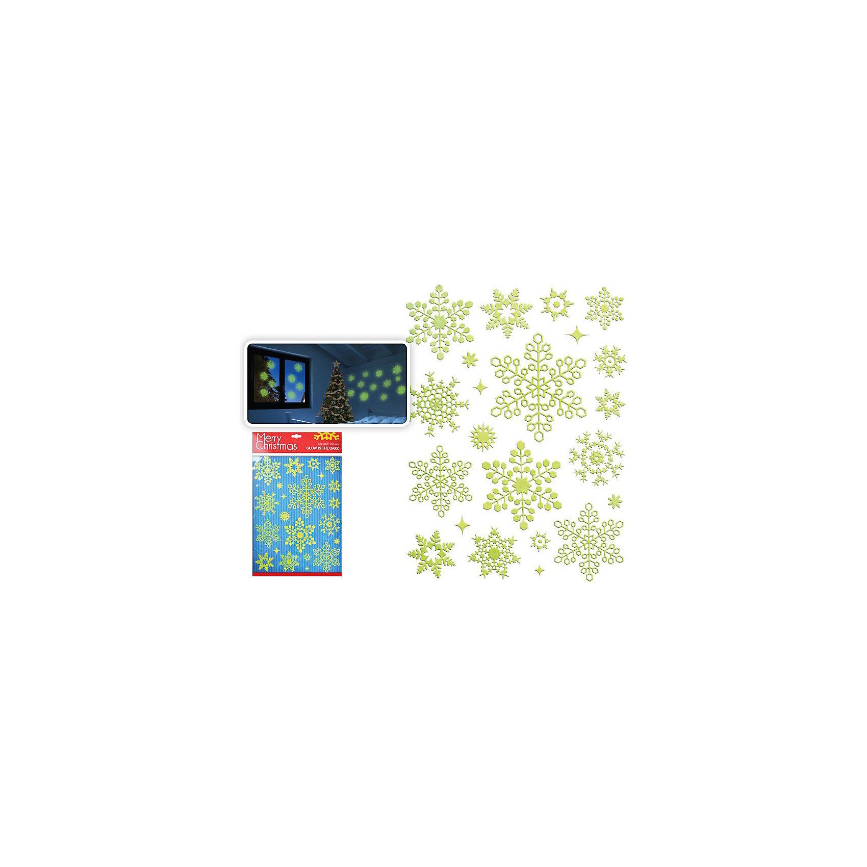 Интерьерные наклейки светящиеся в темноте Снежинки, TUKZARВсё для праздника<br>Интерьерные наклейки Снежинки, Tukzar (Тукзар) замечательно украсят Ваш интерьер и создадут праздничное новогоднее настроение. Наклейки выполнены в виде красивых ажурных снежинок, светятся в темноте.<br><br>Дополнительная информация:<br><br>- Размер: 48 х 30 см.<br>- Вес: 104 гр. <br><br>Интерьерные наклейки Снежинки, светящиеся в темноте, Tukzar (Тукзар) можно купить в нашем интернет-магазине.<br><br>Ширина мм: 480<br>Глубина мм: 300<br>Высота мм: 100<br>Вес г: 103<br>Возраст от месяцев: 36<br>Возраст до месяцев: 168<br>Пол: Унисекс<br>Возраст: Детский<br>SKU: 3875857