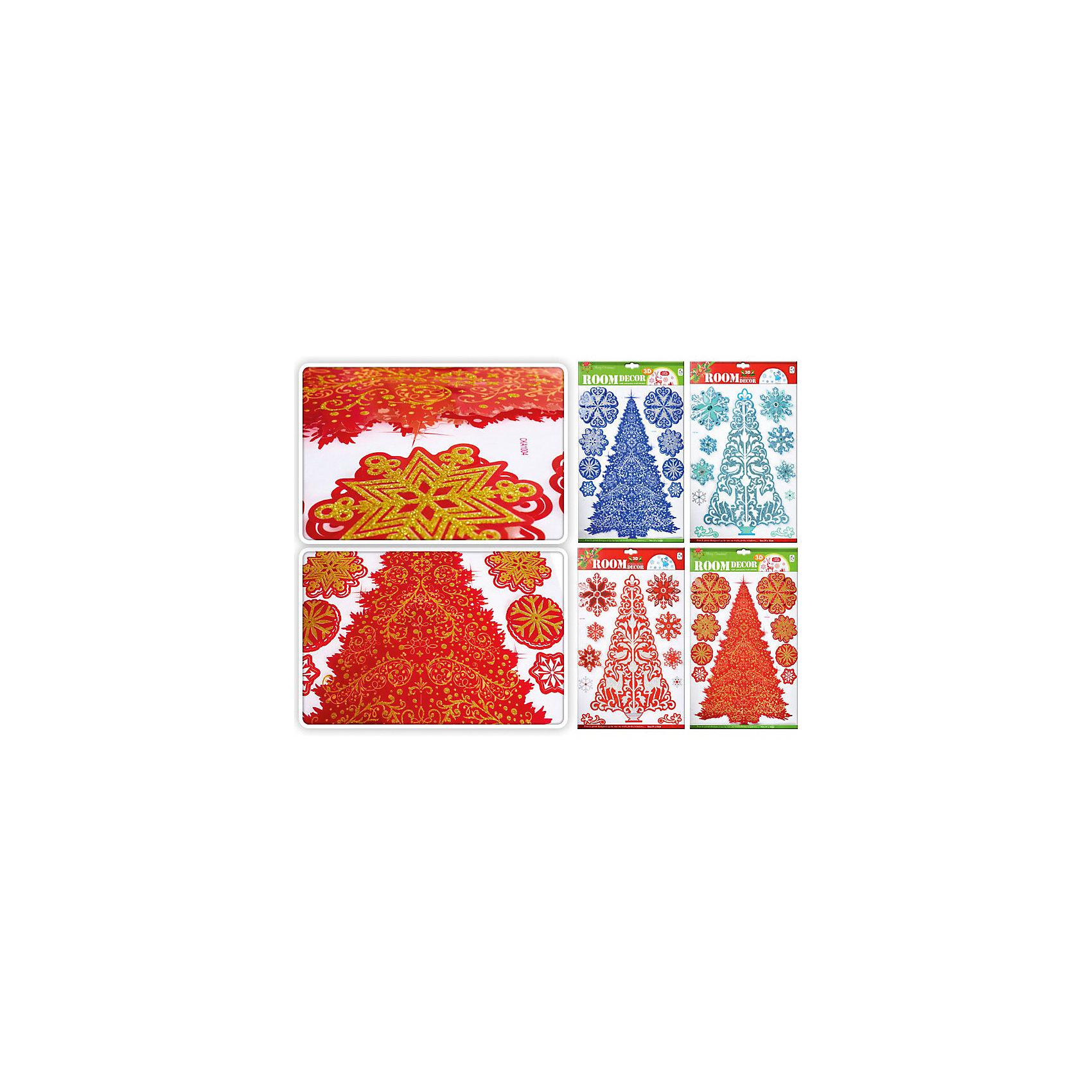 Интерьерные 3D наклейки Елка и снежинки, TUKZARИнтерьерные 3D наклейки Елка и Снежинки, Tukzar (Тукзар) замечательно украсят Ваш интерьер и создадут праздничное новогоднее настроение. Наклейки выполнены в виде красивой<br>ажурной елочки и снежинок. В ассортименте 4 расцветки.<br><br>Дополнительная информация:<br><br>- Размер: 48 х 29 см.<br>- Вес: 104 гр. <br><br>Интерьерные 3D наклейки Елка и Снежинки, Tukzar (Тукзар) можно купить в нашем интернет-магазине.<br><br>ВНИМАНИЕ! Данный артикул имеется в наличии в разных цветовых исполнениях. К сожалению, заранее выбрать определенный цвет невозможно.<br><br>Ширина мм: 480<br>Глубина мм: 290<br>Высота мм: 100<br>Вес г: 103<br>Возраст от месяцев: 36<br>Возраст до месяцев: 168<br>Пол: Унисекс<br>Возраст: Детский<br>SKU: 3875858