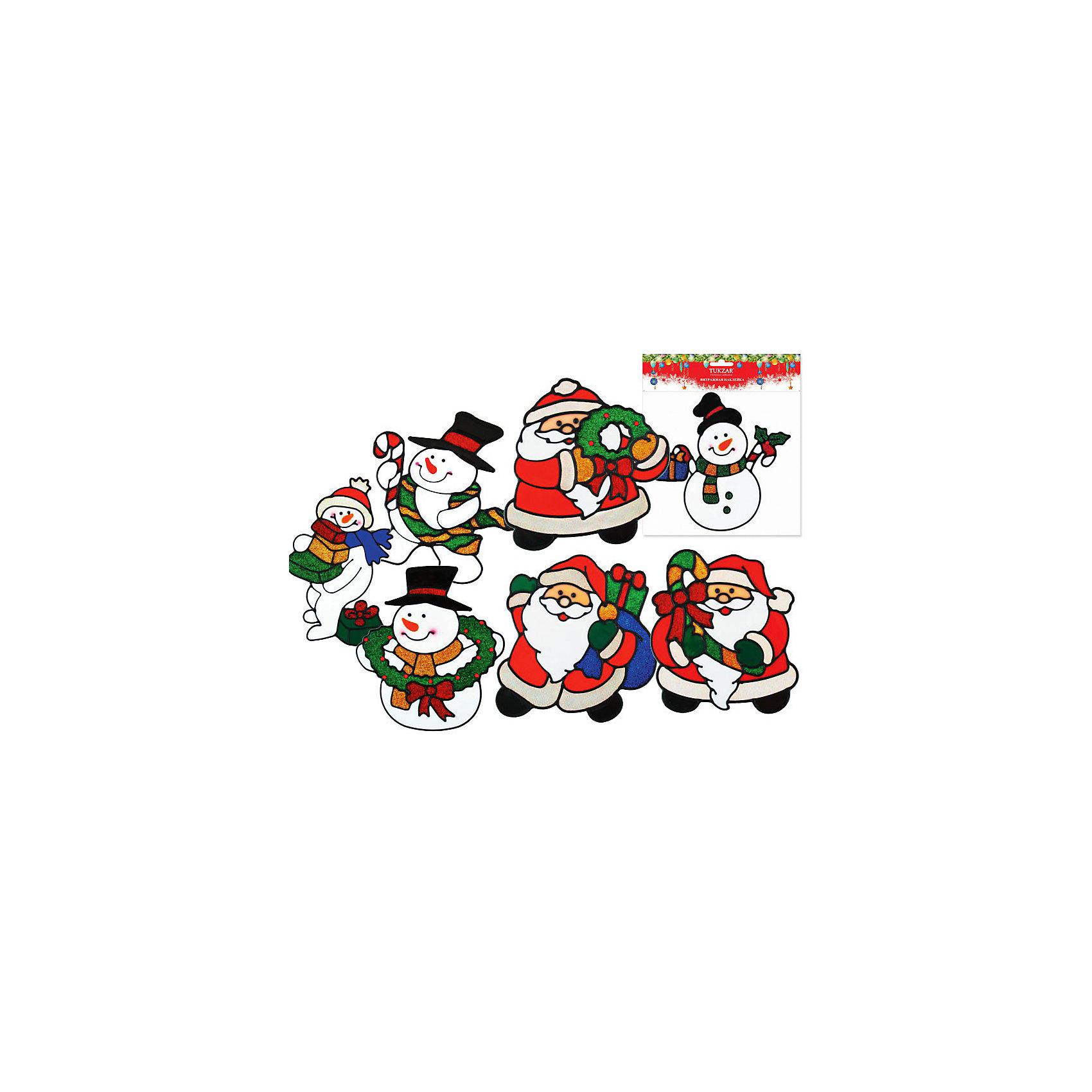 Витражная наклейка новогодняя, 20х20 см, 8 видов, TUKZARВитражная новогодняя наклейка, Tukzar (Тукзар) замечательно украсит Ваш интерьер и создаст  праздничное новогоднее настроение. 8 видов ассорти с различными изображениями Деда Мороза и снеговиков.<br><br>Дополнительная информация:<br><br>- Размер: 20 х 20 см.<br>- Вес: 26 гр. <br><br>Витражную наклейку новогоднюю, Tukzar (Тукзар) можно купить в нашем интернет-магазине.<br><br>ВНИМАНИЕ! Данный артикул имеется в наличии в разных вариантах исполнения. Заранее выбрать определенный вариант нельзя. При заказе нескольких наклеек возможно получение одинаковых.<br><br>Ширина мм: 200<br>Глубина мм: 200<br>Высота мм: 50<br>Вес г: 26<br>Возраст от месяцев: 36<br>Возраст до месяцев: 168<br>Пол: Унисекс<br>Возраст: Детский<br>SKU: 3875864