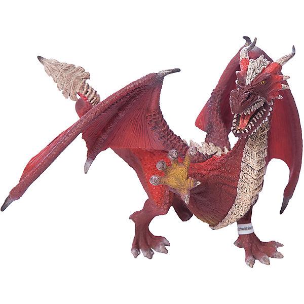 Дракон Воин, SchleichФигурки мифических существ<br>Дракон Воин, Schleich (Шляйх) – это высококачественная игровая фигурка.<br>Дракон Воин из серии Рыцари от Schleich (Шляйх) - восхитительная фигурка дракона, которая сделает игры с рыцарями и воинами еще увлекательнее. Дракон Воин самый умный из всех драконов. У него самое мощное и самое сильное пламя. В сочетании с его интеллектуальными способностями, острые зубы, мощные, сильные когтистые лапы, хвост и пламя, а также выдающиеся лётные качества, наносят разрушительный урон строениям и живой силе противника. Великие познания в тактике ведения боя, умение предвидеть ситуацию на несколько шагов вперёд - ему бы в полководцы! <br>Прекрасно выполненные фигурки Schleich (Шляйх) отличаются высочайшим качеством игрушек ручной работы. Каждая фигурка разработана с учетом исследований в области педагогики и производится как настоящее произведение для маленьких детских ручек. Все фигурки Schleich (Шляйх) сделаны из гипоаллергенных высокотехнологичных материалов, раскрашены вручную и не вызывают аллергии у ребенка.<br><br>Дополнительная информация:<br><br>- Размер фигурки: 21,5 х 15,5 х 13,5 см.<br>- Материал: высококачественный каучуковый пластик<br><br>Фигурку Дракон Воин, Schleich (Шляйх) можно купить в нашем интернет-магазине.<br><br>Ширина мм: 200<br>Глубина мм: 154<br>Высота мм: 162<br>Вес г: 204<br>Возраст от месяцев: 36<br>Возраст до месяцев: 96<br>Пол: Мужской<br>Возраст: Детский<br>SKU: 3875879