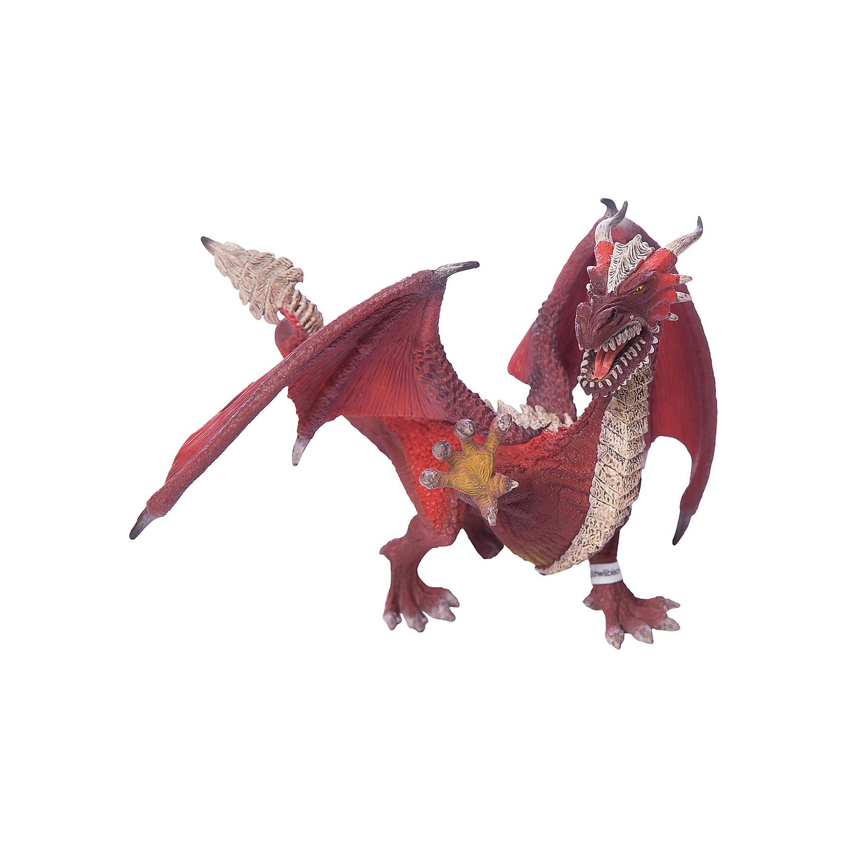 Дракон Воин, SchleichДраконы и динозавры<br>Дракон Воин, Schleich (Шляйх) – это высококачественная игровая фигурка.<br>Дракон Воин из серии Рыцари от Schleich (Шляйх) - восхитительная фигурка дракона, которая сделает игры с рыцарями и воинами еще увлекательнее. Дракон Воин самый умный из всех драконов. У него самое мощное и самое сильное пламя. В сочетании с его интеллектуальными способностями, острые зубы, мощные, сильные когтистые лапы, хвост и пламя, а также выдающиеся лётные качества, наносят разрушительный урон строениям и живой силе противника. Великие познания в тактике ведения боя, умение предвидеть ситуацию на несколько шагов вперёд - ему бы в полководцы! <br>Прекрасно выполненные фигурки Schleich (Шляйх) отличаются высочайшим качеством игрушек ручной работы. Каждая фигурка разработана с учетом исследований в области педагогики и производится как настоящее произведение для маленьких детских ручек. Все фигурки Schleich (Шляйх) сделаны из гипоаллергенных высокотехнологичных материалов, раскрашены вручную и не вызывают аллергии у ребенка.<br><br>Дополнительная информация:<br><br>- Размер фигурки: 21,5 х 15,5 х 13,5 см.<br>- Материал: высококачественный каучуковый пластик<br><br>Фигурку Дракон Воин, Schleich (Шляйх) можно купить в нашем интернет-магазине.<br><br>Ширина мм: 200<br>Глубина мм: 154<br>Высота мм: 162<br>Вес г: 204<br>Возраст от месяцев: 36<br>Возраст до месяцев: 96<br>Пол: Мужской<br>Возраст: Детский<br>SKU: 3875879