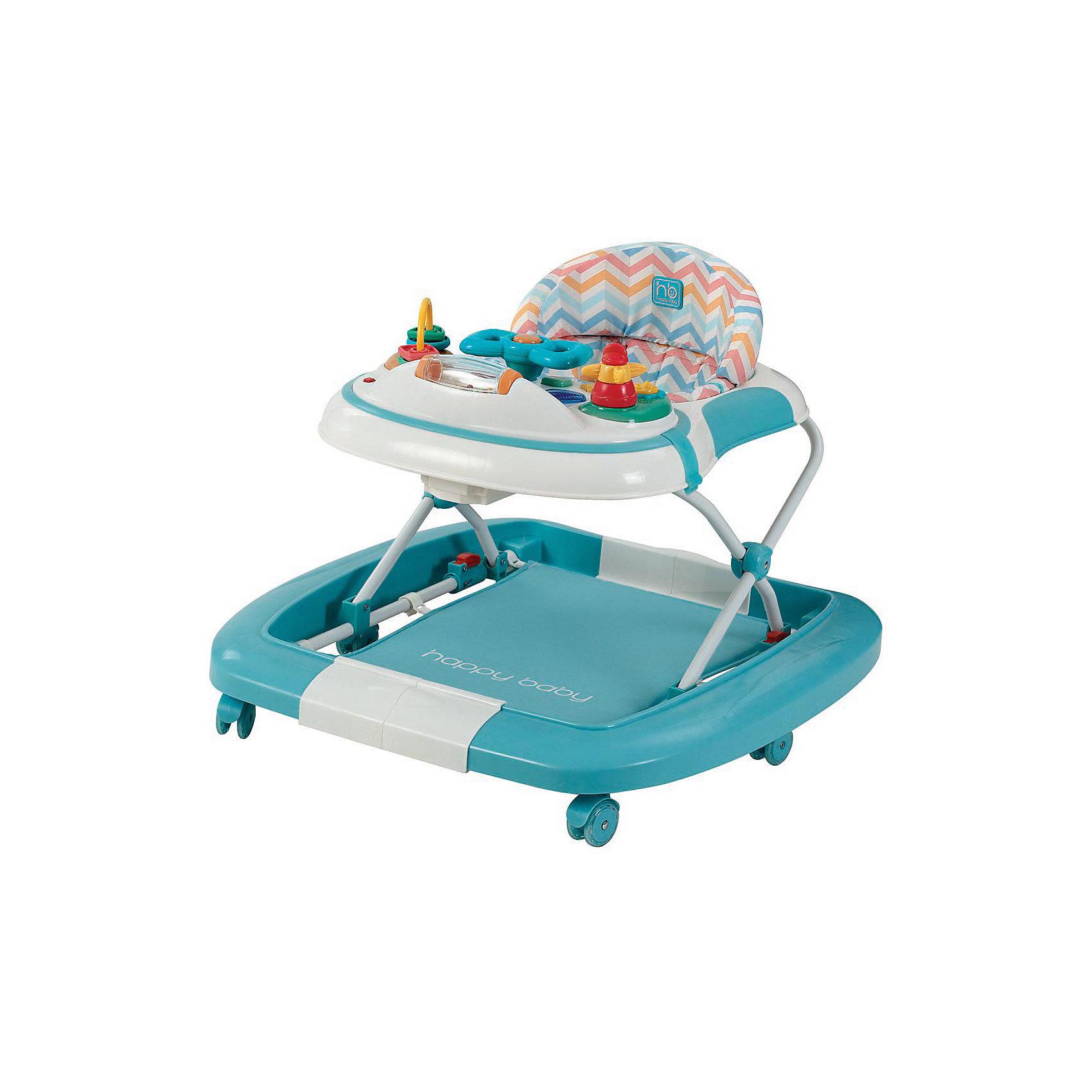 Ходунок-качалка Robin, Happy Baby, голубой