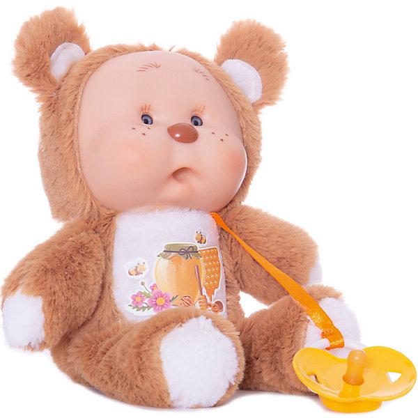 Медвежонок Миша, YogurtinisМягкие игрушки животные<br>Пупсы Yogurtinis (Йогуртини) Лесные Друзья это новая серия милейших зверят от знаменитого производителя ароматных пупсов Yogurtinis (Йогуртини). Ароматный пупс и любимый лесной зверек в одной игрушке, лучшего подарка для малыша не придумать! Милый и пушистый Медвежонок Миша станет лучшим другом малыша, ведь он только недавно родился и тоже с радостью познает мир. Миша мягкий, приятный на ощупь, и как любой малыш мишутка вкусно пахнет. Малыш упакован в баночку, стилизованную под банку с вареньем, что сделает подарок еще более выразительным. <br>Забавная мордочка, выполненная из мягкого прорезиненного пластика будет неизменно вызывать улыбку у окружающих и дарить положительные эмоции малышу!<br><br>Дополнительная информация:<br><br>- В комплекте: пупс  Медвежонок Миша с соской в стилизованной банке для варенья;<br>- Новая серия Yogurtinis (Йогуртини) Лесные Друзья;<br>- Прекрасный подарок малышу;<br>- Мягкое тело;<br>- Прекрасный фруктовый аромат;<br>- Выразительное личико;<br>- Удобно брать в путешествия;<br>- Высота игрушки: 22 см;<br>- Размер упаковки: 14 х 14 х 18,5 см;<br>- Вес: 398 г<br><br>Медвежонка Мишу, Yogurtinis (Йогуртини) можно купить в нашем интернет-магазине.<br>Ширина мм: 140; Глубина мм: 140; Высота мм: 185; Вес г: 398; Возраст от месяцев: 36; Возраст до месяцев: 72; Пол: Унисекс; Возраст: Детский; SKU: 3879020;