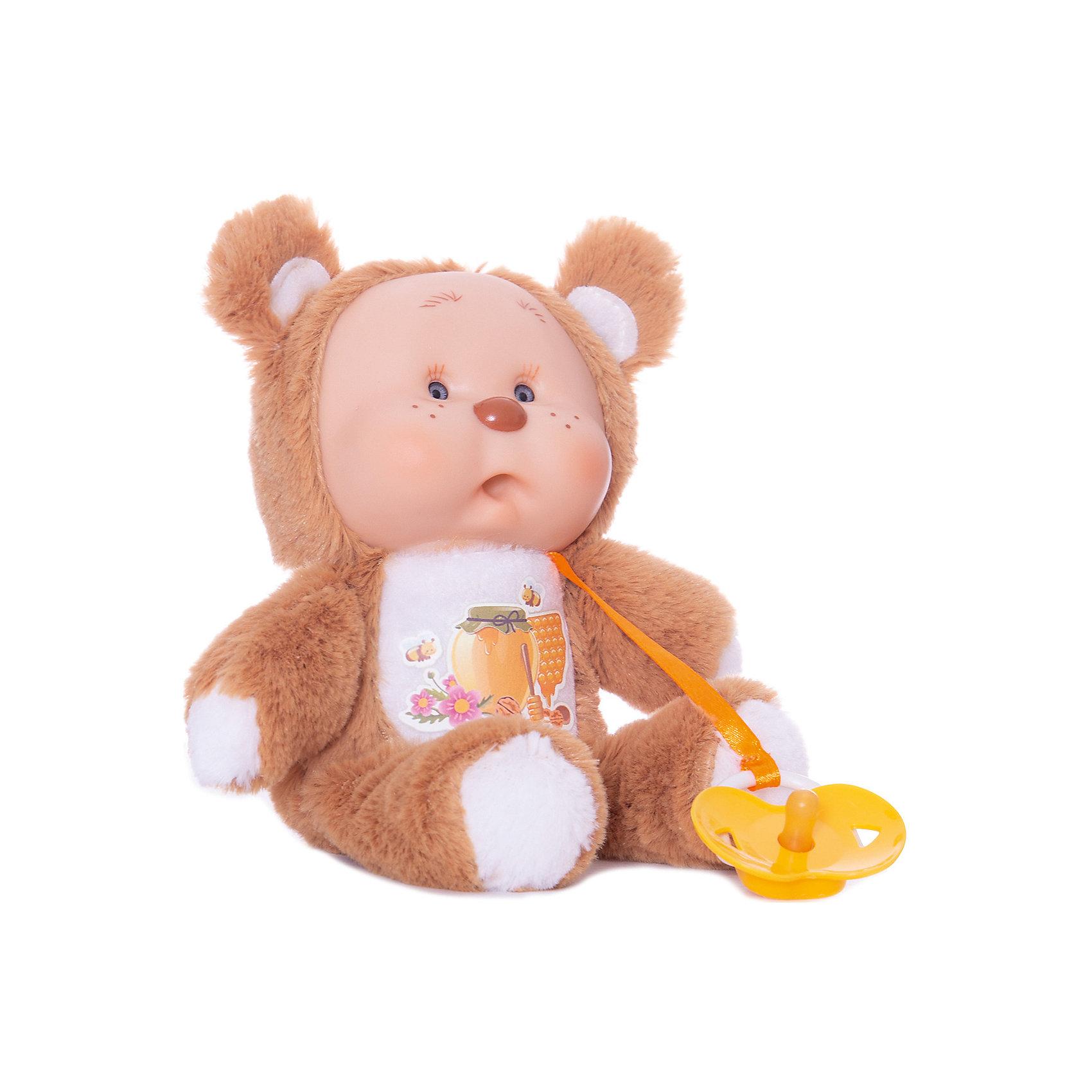 Медвежонок Миша, YogurtinisЗвери и птицы<br>Пупсы Yogurtinis (Йогуртини) Лесные Друзья это новая серия милейших зверят от знаменитого производителя ароматных пупсов Yogurtinis (Йогуртини). Ароматный пупс и любимый лесной зверек в одной игрушке, лучшего подарка для малыша не придумать! Милый и пушистый Медвежонок Миша станет лучшим другом малыша, ведь он только недавно родился и тоже с радостью познает мир. Миша мягкий, приятный на ощупь, и как любой малыш мишутка вкусно пахнет. Малыш упакован в баночку, стилизованную под банку с вареньем, что сделает подарок еще более выразительным. <br>Забавная мордочка, выполненная из мягкого прорезиненного пластика будет неизменно вызывать улыбку у окружающих и дарить положительные эмоции малышу!<br><br>Дополнительная информация:<br><br>- В комплекте: пупс  Медвежонок Миша с соской в стилизованной банке для варенья;<br>- Новая серия Yogurtinis (Йогуртини) Лесные Друзья;<br>- Прекрасный подарок малышу;<br>- Мягкое тело;<br>- Прекрасный фруктовый аромат;<br>- Выразительное личико;<br>- Удобно брать в путешествия;<br>- Высота игрушки: 22 см;<br>- Размер упаковки: 14 х 14 х 18,5 см;<br>- Вес: 398 г<br><br>Медвежонка Мишу, Yogurtinis (Йогуртини) можно купить в нашем интернет-магазине.<br><br>Ширина мм: 140<br>Глубина мм: 140<br>Высота мм: 185<br>Вес г: 398<br>Возраст от месяцев: 36<br>Возраст до месяцев: 72<br>Пол: Унисекс<br>Возраст: Детский<br>SKU: 3879020