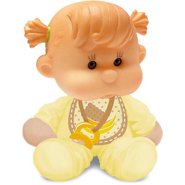Пупс с мягконабивным телом, YogurtinisКуклы<br>Фруктовые пупсы Yogurtinis (Йогуртини) уже завоевали любовь малышек по всему миру, теперь и Ваша девочка сможет по достоинству оценить этих ароматных малышей. Новые пупсы из серии  Yogurtinis Potitos (Йогуртини) - очень мягкие и трогательные. Они станут любимцами даже у самых маленьких, ведь у них мягконабивное тельце и выразительная головка из мягкой экологичной резины. Малышка так и просится на ручки.  Благодаря мягкому тельцу, куколку так удобно брать с собой в кроватку. Она как и все малыши очень приятно пахнет. <br>Куколки упакованы в стилизованные баночки из под детского питания с ложечкой, что сделает подарок особенно выразительным. Ухаживая за пупсом, ребенок воспитывает в себе только самые полезные качества, учится заботе, доброте, развивает воображение и артистические навыки!<br><br>Дополнительная информация:<br><br>- В комплекте Пупс с мягконабивным телом, с соской  в  упаковке для детского питания;<br>- Прекрасный подарок маленькой девочке;<br>- Прекрасный фруктовый аромат;<br>- Выразительное личико;<br>- Удобно брать в путешествия;<br>- Высота куколки: 12 см;<br>- Размер упаковки: 12 х 12 х 15,5 см;<br>- Вес: 230 г<br><br>Пупса с мягконабивным телом, Yogurtinis (Йогуртини) можно купить в нашем интернет-магазине.<br>Ширина мм: 120; Глубина мм: 120; Высота мм: 155; Вес г: 230; Возраст от месяцев: 36; Возраст до месяцев: 72; Пол: Женский; Возраст: Детский; SKU: 3879027;