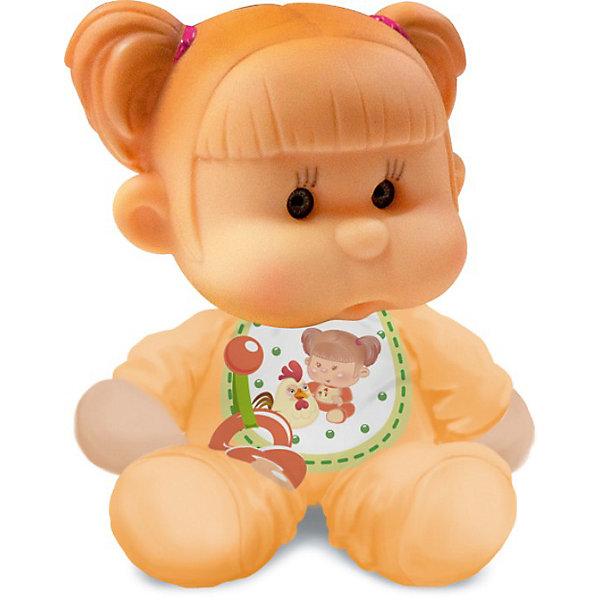 Пупс с мягконабивным телом, YogurtinisКуклы<br>Фруктовые пупсы Yogurtinis (Йогуртини) уже завоевали любовь малышек по всему миру, теперь и Ваша девочка сможет по достоинству оценить этих ароматных малышей. Новые пупсы из серии  Yogurtinis Potitos (Йогуртини) - очень мягкие и трогательные. Они станут любимцами даже у самых маленьких, ведь у них мягконабивное тельце и выразительная головка из мягкой экологичной резины. Малышка так и просится на ручки.  Благодаря мягкому тельцу, куколку так удобно брать с собой в кроватку. Она как и все малыши очень приятно пахнет. <br>Куколки упакованы в стилизованные баночки из под детского питания с ложечкой, что сделает подарок особенно выразительным. Ухаживая за пупсом, ребенок воспитывает в себе только самые полезные качества, учится заботе, доброте, развивает воображение и артистические навыки!<br><br>Дополнительная информация:<br><br>- В комплекте Пупс с мягконабивным телом, с соской  в  упаковке для детского питания;<br>- Прекрасный подарок маленькой девочке;<br>- Прекрасный фруктовый аромат;<br>- Выразительное личико;<br>- Удобно брать в путешествия;<br>- Высота куколки: 12 см;<br>- Размер упаковки: 12 х 12 х 15,5 см;<br>- Вес: 230 г<br><br>Пупса с мягконабивным телом, Yogurtinis (Йогуртини) можно купить в нашем интернет-магазине.<br><br>Ширина мм: 120<br>Глубина мм: 120<br>Высота мм: 155<br>Вес г: 230<br>Возраст от месяцев: 36<br>Возраст до месяцев: 72<br>Пол: Женский<br>Возраст: Детский<br>SKU: 3879029