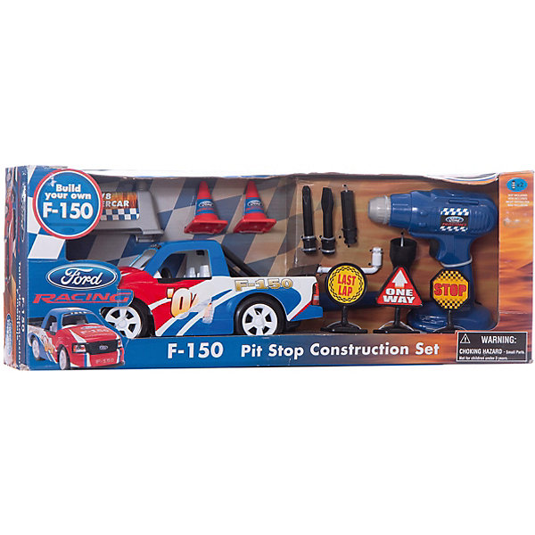 Игровой набор-конструктор Ford, с аксессуарами, WINNERМашинки<br>Игровой набор-конструктор Ford, с аксессуарами, WINNER (ВИННЕР) – этот набор позволит ребенку самому собрать модель спортивного пикапа Ford.<br>В набор входит все необходимое для сборки машинки, в том числе электромеханическая отвертка со сменными насадками, а также знаки дорожного движения, которые можно будет расставить на дороге после того, как машинка будет собрана. Собирая модель автомобиля, ребенок будет учиться разбираться в инструкциях, а также развивать логику, моторику рук.<br><br>Дополнительная информация:<br><br>- Комплектация: сборная машинка марки Ford, дрель, отвертка с дополнительными насадками, дорожные знаки<br>- Для работы дрели необходимы 2 батарейки 1,5 Vтипа ААR6 (не входят в комплект)<br>- Материал: пластик<br>- Размер упаковки: 53 х 20 х 12 см.<br><br>Игровой набор-конструктор Ford, с аксессуарами, WINNER (ВИННЕР) можно купить в нашем интернет-магазине.<br>Ширина мм: 530; Глубина мм: 200; Высота мм: 120; Вес г: 990; Возраст от месяцев: 36; Возраст до месяцев: 120; Пол: Мужской; Возраст: Детский; SKU: 3882109;