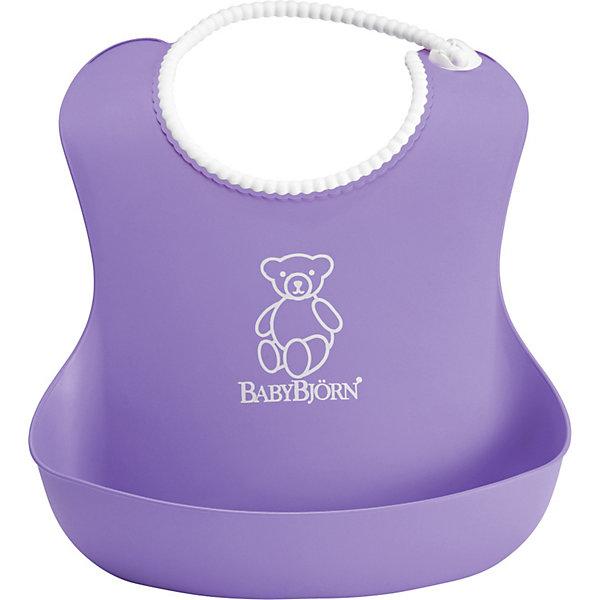 Мягкий нагрудник с карманом, BabyBjorn, фиолетовыйНагрудники и салфетки<br>Мягкий нагрудник с карманом BabyBjorn (БэйбиБьёрн) - функциональный и удобный нагрудник для активных детишек!<br>Мягкий нагрудник с карманом поможет провести процесс кормления ребенка в чистоте. Нагрудник имеет эргономичную форму и глубокий карман для улавливания пищи. Горловина нагрудника имеет мягкую поверхность и не царапает шею малыша, а замочек легко застегивается на нужную длину.<br><br>Дополнительная информация:<br><br>- регулируемая застёжка<br>- глубокий кармашек спереди<br>- можно мыть в посудомоечной машине<br>- материал: полипропилен (ПП) и термоэластопласт (ТЭП).<br>- Размер горловины: от 19 до 30 см<br><br>Мягкий нагрудник с карманом, BabyBjorn, фиолетовый можно купить в нашем магазине.<br>Ширина мм: 60; Глубина мм: 40; Высота мм: 215; Вес г: 84; Возраст от месяцев: 6; Возраст до месяцев: 36; Пол: Унисекс; Возраст: Детский; SKU: 3888122;