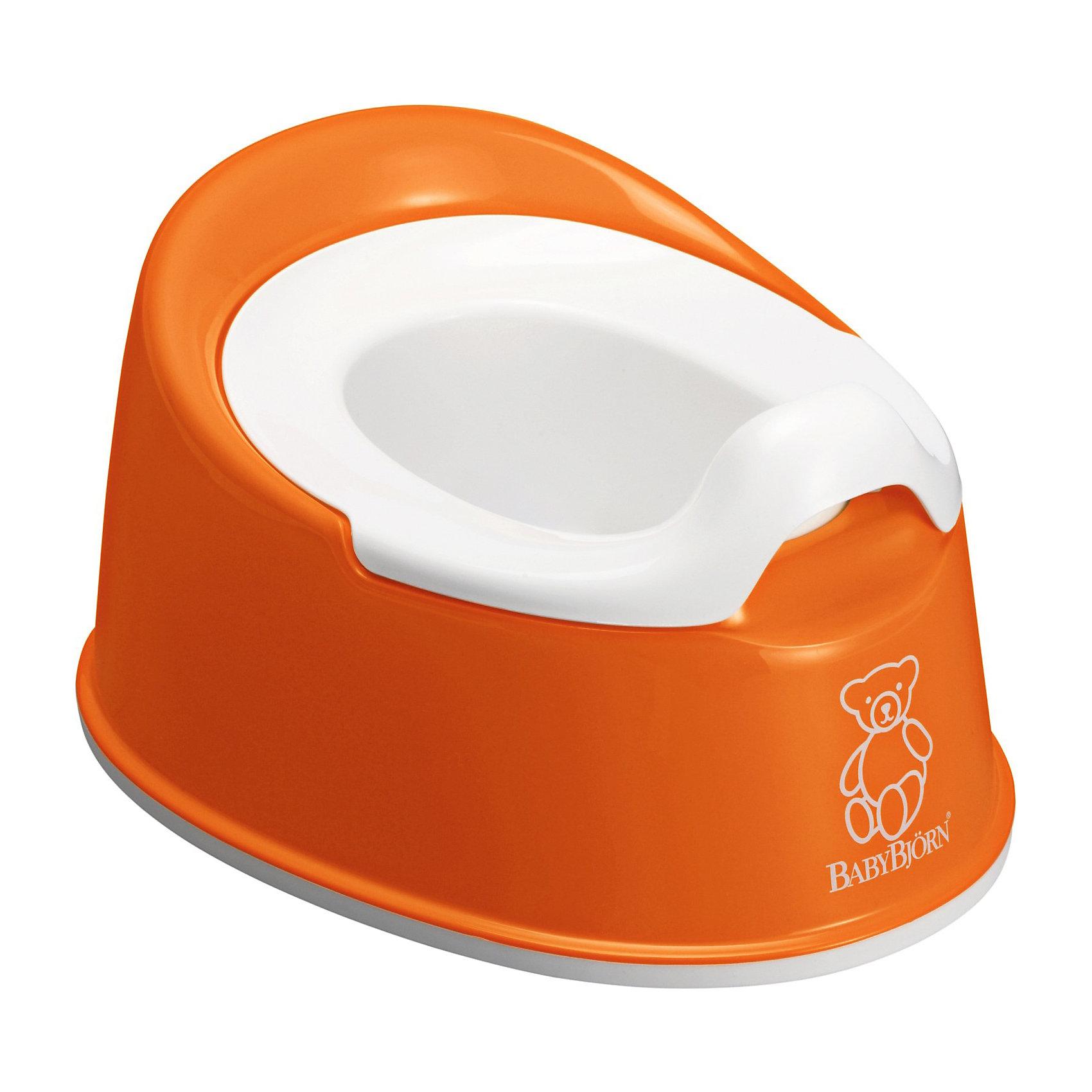 Горшок  Smart, BabyBjorn, оранжевыйГоршки, сиденья для унитаза, стульчики-подставки<br>Горшок Smart от BabyBjorn (БэйбиБьёрн) - превосходное сочетание функциональности и продуманного дизайна!<br><br>Несмотря на маленькие размеры, горшок Smart очень устойчив. Его легко содержать в чистоте, и поэтому он идеально подходит даже для небольшой уборной. Кроме того, благодаря эргономичному дизайну и мягким контурам, ребенку приятно и удобно им пользоваться.<br><br>Горшок легко содержать в чистоте - внутренняя часть горшка легко вынимается. Протрите влажной тряпкой или сполосните под краном.<br><br>Дополнительная информация:<br><br>- Занимает мало места, легко брать с собой. <br>- Вынимаемый внутренний горшок легко опорожнять и мыть. <br>- Резиновые планки снизу обеспечивают устойчивость на полу.<br>- Предотвращает ненужное разбрызгивание.<br>- Не содержит ПВХ. <br>- Изготовлен из прочной пластмассы, которая поддается утилизации.<br>- Вес: 540 г.<br>- Размеры: 25,5 x 33 x 16,5 cм.<br><br>Горшок Smart от BabyBjorn голубого цвета можно купить в нашем интернет-магазине.<br><br>Ширина мм: 330<br>Глубина мм: 255<br>Высота мм: 165<br>Вес г: 530<br>Цвет: оранжевый<br>Возраст от месяцев: 6<br>Возраст до месяцев: 36<br>Пол: Унисекс<br>Возраст: Детский<br>SKU: 3888127
