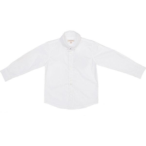Рубашка для мальчика PlayTodayБлузки и рубашки<br>Рубашка для мальчика PlayToday. <br>Состав: 100% хлопок <br><br>* рубашка выполнена из натурального материала - необходимая вещь в ежедневном гардеробе<br>* рубашка с длинными рукавами, отложным воротничком классической формы и застежкой на пуговицы<br>* манжеты классической формы с застежкой на пуговицы<br>Ширина мм: 174; Глубина мм: 10; Высота мм: 169; Вес г: 157; Цвет: белый; Возраст от месяцев: 36; Возраст до месяцев: 48; Пол: Мужской; Возраст: Детский; Размер: 104,116,122,140,128,134,98,110; SKU: 3892821;