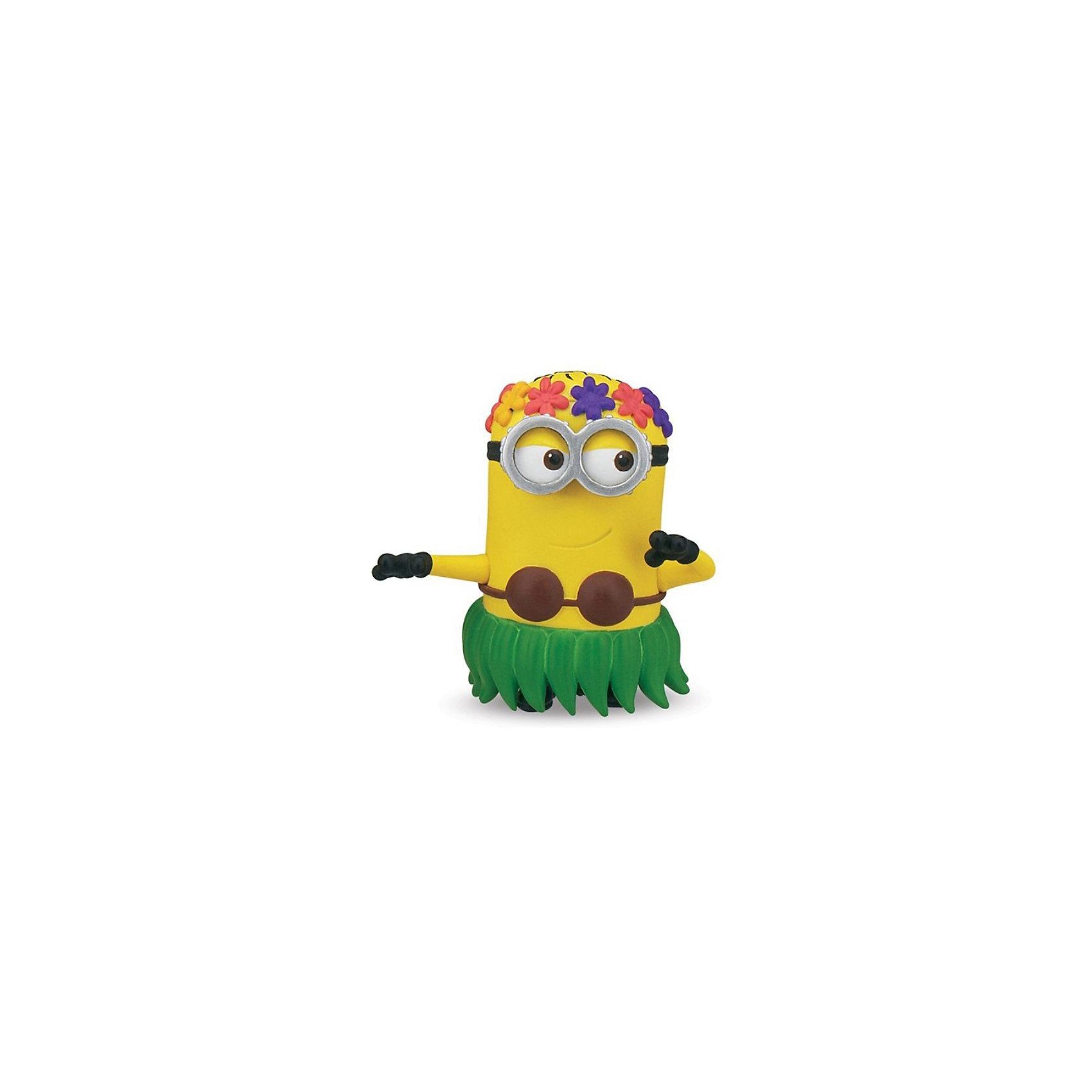 Хула-Хула Миньон,  Гадкий ЯФигурка миньона Хула-Хула, Гадкий Я создана по мотивам популярного мультфильма Гадкий Я (Despicable Me) и придется по душе всем его поклонникам. По сюжету злодей Грю создал целую армию забавных существ - миньонов, которые являются для него слугами и помощниками. Эти трудолюбивые и смешные желтые существа  имеют один или два глаза и носят круглые очки. Миньон-девочка Хула-Хула одета в гавайский наряд: юбочку из листьев и топ, на голове цветочный венок. У фигурки забавное лицо, два глаза и очки. Руки и ноги подвижные.<br><br>Дополнительная информация:<br><br>- Материал: пластик.<br>- Высота фигурка: 5 см.<br>- Размер упаковки: 10 х 5 х 19 см.<br>- Вес: 100 гр.<br><br>Миньона Хула-Хула, Гадкий Я можно купить в нашем интернет-магазине.<br><br>Ширина мм: 100<br>Глубина мм: 50<br>Высота мм: 190<br>Вес г: 100<br>Возраст от месяцев: 36<br>Возраст до месяцев: 84<br>Пол: Женский<br>Возраст: Детский<br>SKU: 3893466