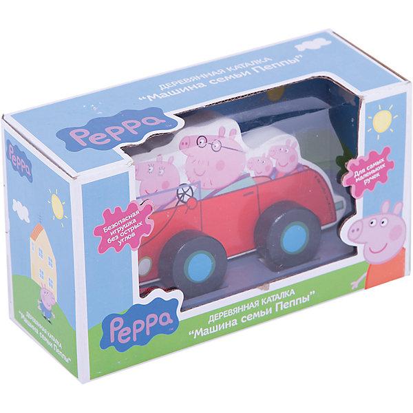 Каталка Машина семьи Пеппы, Свинка ПеппаПопулярные игрушки<br>Каталка «Машина семьи Пеппы» ( Свинка Пеппа ) проста и понятна даже самым маленьким ребятишкам. Малютки будут катать машинку, взявшись за ее верх или шнурок, входящий в комплект. Такая игра интересна малышам и развивает у них мелкую моторику. Игрушка абсолютно безопасна для детского использования: она создана из цельного экологически чистого дерева, отполирована, не имеет острых углов. <br><br>Дополнительная информация:<br><br>- Размер: 16х9х2 см<br>- Материал: дерево<br><br>Каталку Машина семьи Пеппы (Peppa Pig) можно купить в нашем магазине.<br>Ширина мм: 200; Глубина мм: 80; Высота мм: 120; Вес г: 310; Возраст от месяцев: 36; Возраст до месяцев: 60; Пол: Унисекс; Возраст: Детский; SKU: 3893659;
