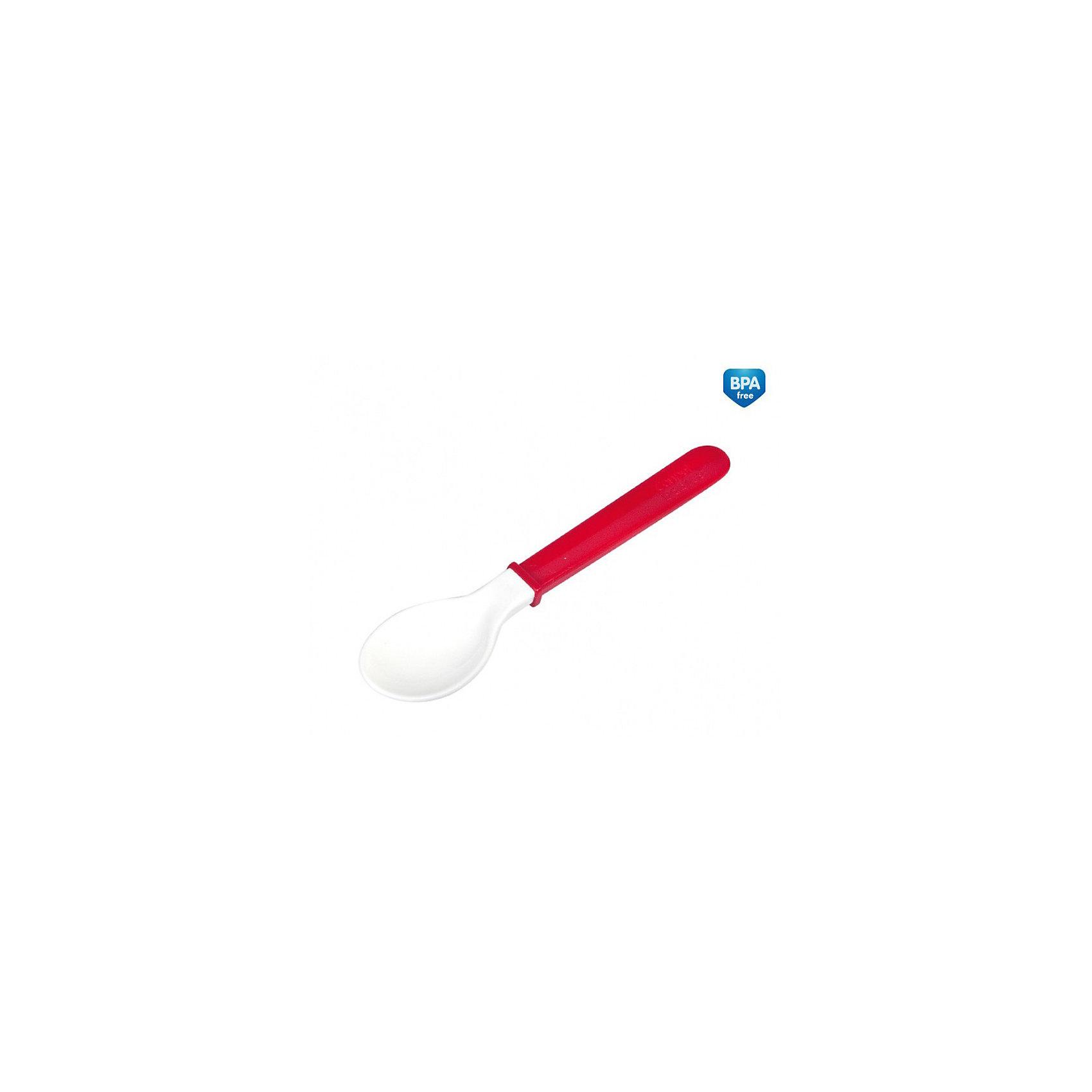 Мягкая ложка, Canpol Babies, красныйСтоловые приборы<br>Мягкая ложка Canpol Babies сделает кормление малышей более приятным.<br>Практичная ложка с мягким силиконовым носиком разработана специально для нежных десен ребенка! Сама ложка легко гнет, что позволяет достать еду из самых труднодоступных уголков баночек и бутылочек. Ее длинная ручка очень удобна для взрослых. <br>Дополнительная информация:<br>- Изготовлена из безопасных материалов.<br>- Материал: пластмасса.<br>- Не содержит ПВХ.<br>Внимание! Со временем белая часть ложки может окраситься. <br>Не подходит для применения в микроволновой печи! <br>Мягкую ложку Canpol Babies можно купить в нашем интернет-магазине.<br><br>Ширина мм: 20<br>Глубина мм: 120<br>Высота мм: 220<br>Вес г: 31<br>Возраст от месяцев: 6<br>Возраст до месяцев: 36<br>Пол: Унисекс<br>Возраст: Детский<br>SKU: 3893824