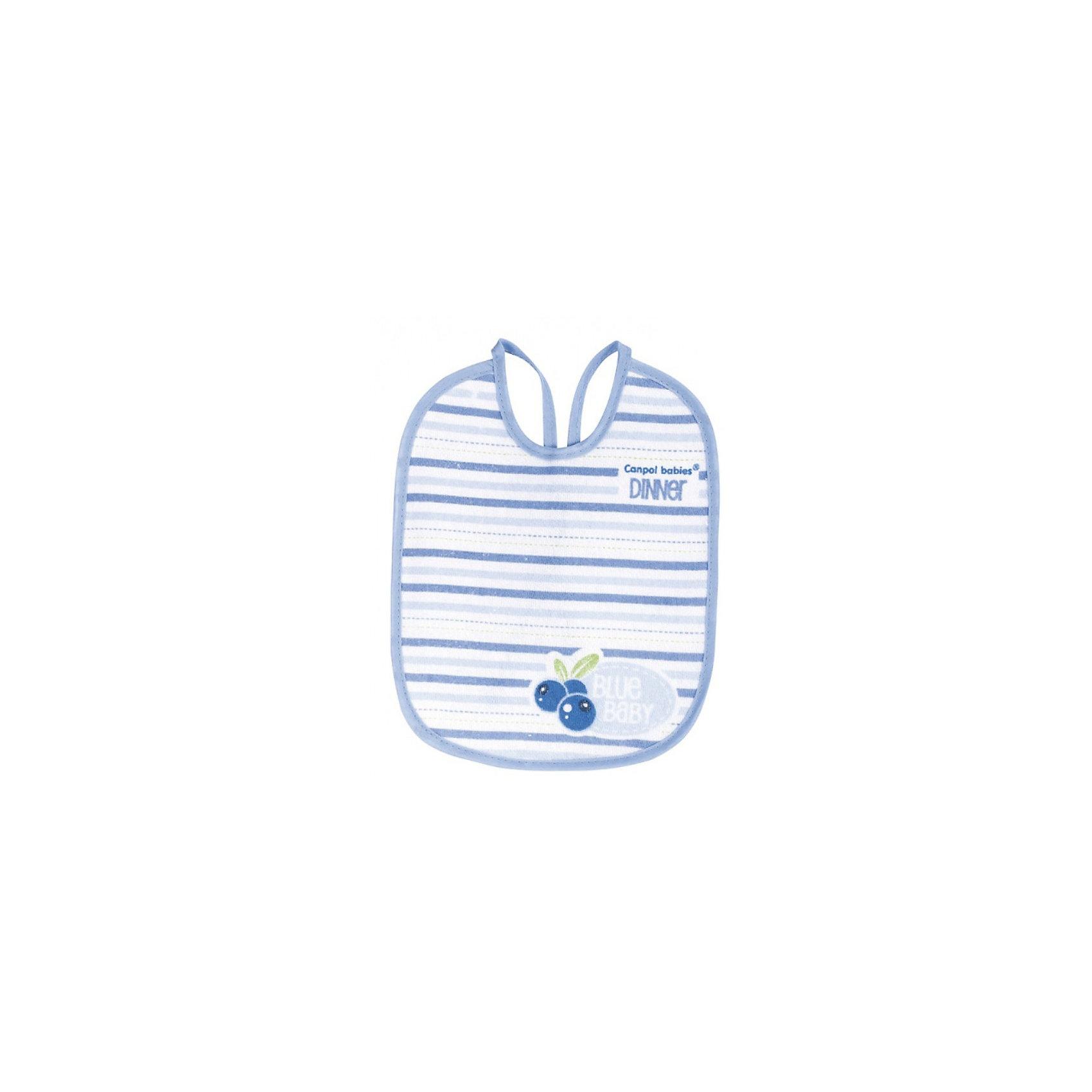 Нагрудник х/б махровый Фрукты, 3 шт., Canpol Babies
