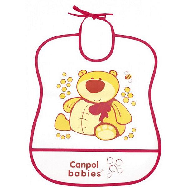 Пластмассовый мягкий нагрудник Медвежонок, Canpol BabiesНагрудники и салфетки<br>Пластмассовый мягкий нагрудник от Canpol  Babies поможет защитить одежду ребенка во время кормления. Имеется карман, в который будут попадать упавшие кусочки пищи. Нагрудник легко моется горячей водой с мылом. <br>Дополнительная информация:<br>- Материал: ПЭВА пленка.<br>- Размер упаковки: 35,5 х 20 х 0,3 см.<br>- Вес: 31,7 гр.<br>Пластмассовый мягкий нагрудник, Canpol Babies можно купить в нашем интернет-магазине.<br><br>Ширина мм: 355<br>Глубина мм: 200<br>Высота мм: 3<br>Вес г: 32<br>Возраст от месяцев: 0<br>Возраст до месяцев: 36<br>Пол: Унисекс<br>Возраст: Детский<br>SKU: 3893860