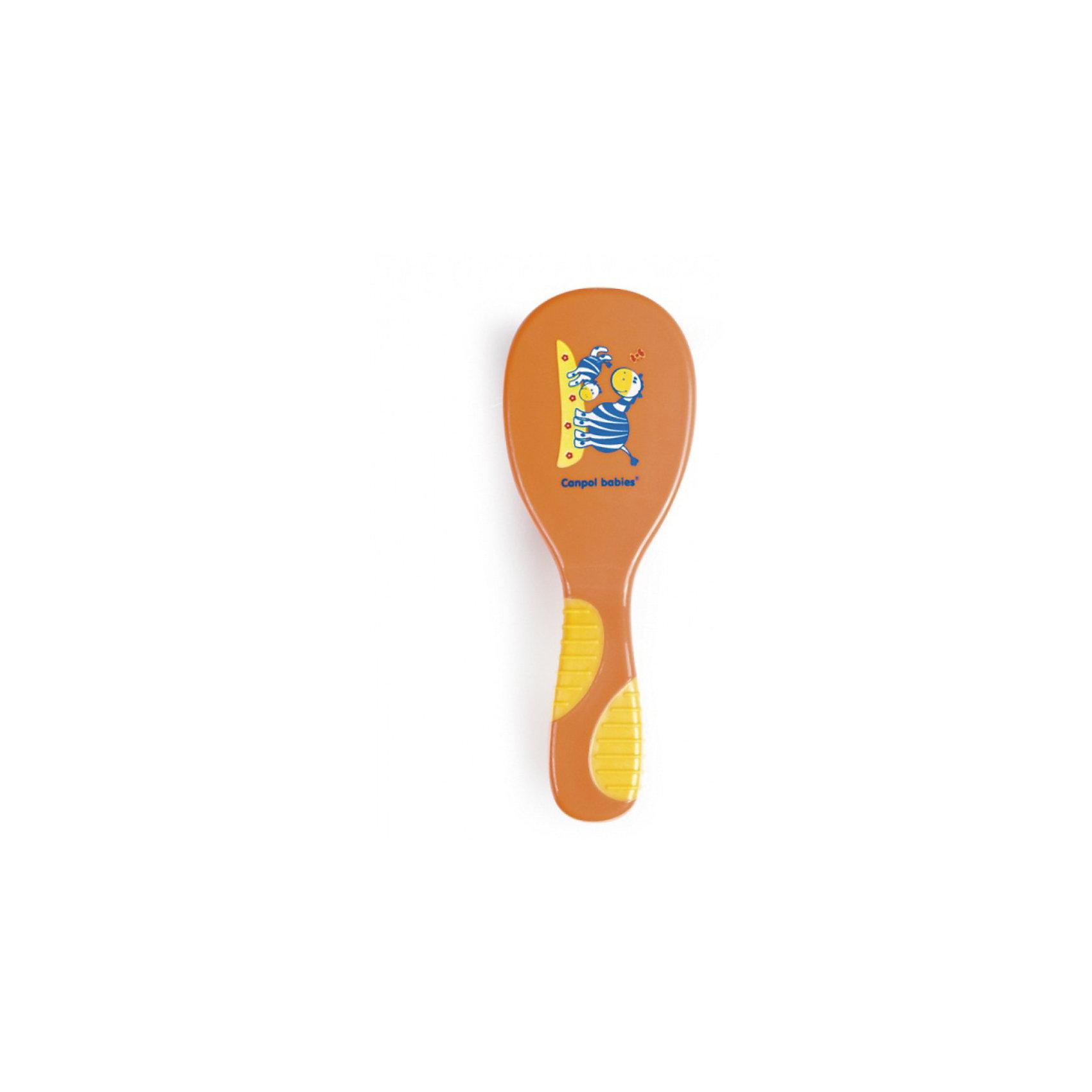 Щетка-расческа Сафари, Canpol Babies, оранжевый