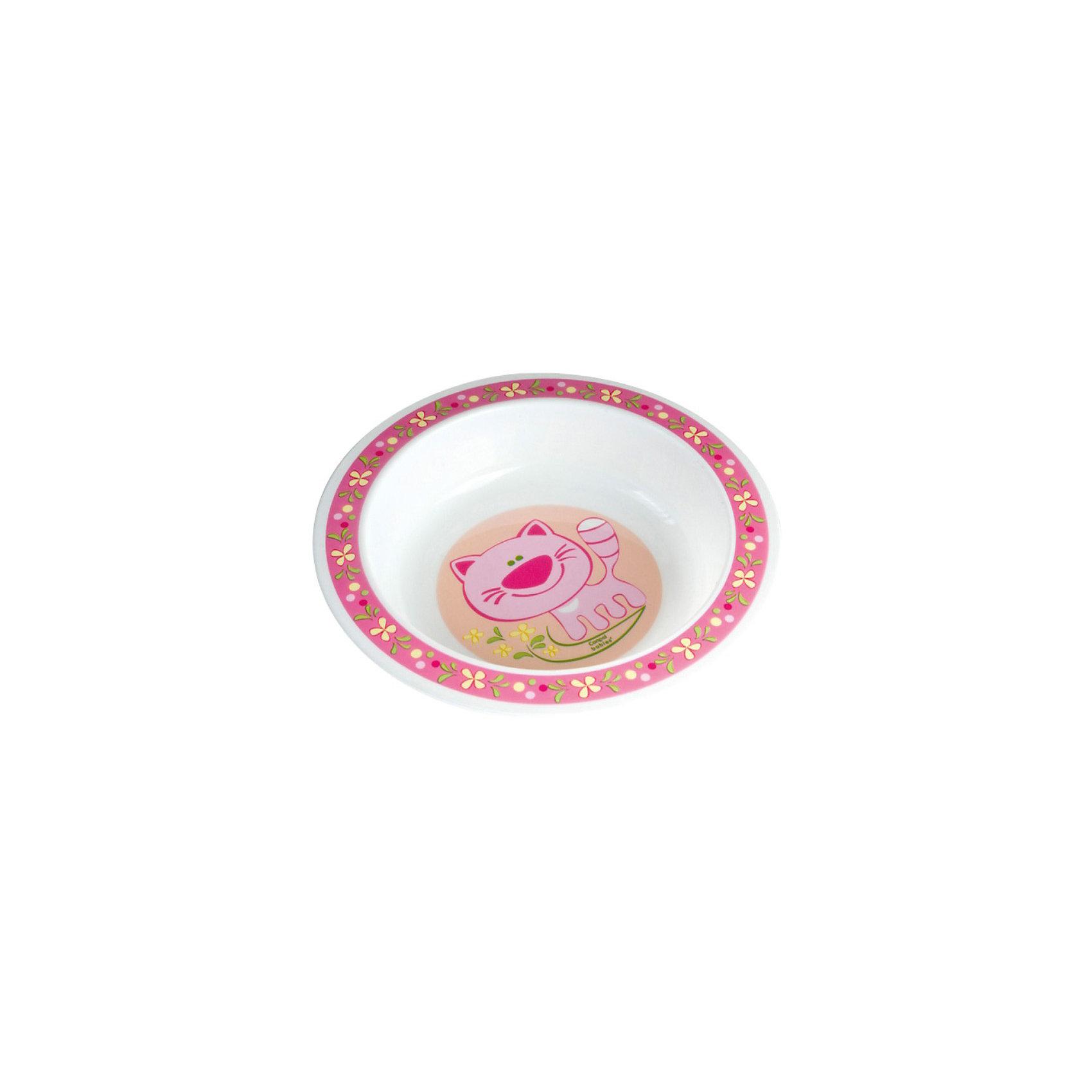 Canpol Babies Тарелка Котёнок, 270 мл.,Canpol Babies, розовый canpol babies коврик развивающий цветной океан