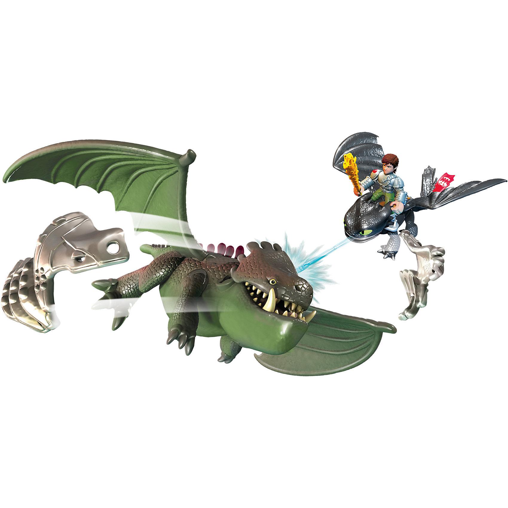 Набор Беззубик и Иккинг против дракона (Как приручить дракона 2), Spin MasterДраконы и динозавры<br>В мультфильме «Как приручить дракона 2» Иккинг и Беззубик оказываются в самом центре боя за сохранение мира! С набором Беззубик и Иккинг против дракона (Как приручить дракона 2), Spin Master можно устраивать головокружительные баталии. Герои должны сразиться с сильным драконом, закованным в броню. Это не просто, помоги своим любимцам одержать верх! Элементы брони дракона снимаются. Фигурку Иккинга можно посадить на спину Беззубику и устраивать воздушные бои. В руке у викинга Огненный меч, который Иккинг сделал сам, он поможет ему одолеть дракона. Беззубик стреляет ледяным зарядом!<br><br>Дополнительная информация:<br><br>- Прекрасный набор для активной ролевой игры;<br>- Безопасные материалы;<br>- Множество возможностей для игр;<br>- Набор сделан по мотивам любимого мультфильма Как приручить дракона 2;<br>- Материал: пластик.<br><br>Набор Беззубик и Иккинг против дракона (Как приручить дракона 2), Spin Master можно купить в нашем интернет-магазине.<br><br>Ширина мм: 388<br>Глубина мм: 218<br>Высота мм: 124<br>Вес г: 388<br>Возраст от месяцев: 36<br>Возраст до месяцев: 96<br>Пол: Мужской<br>Возраст: Детский<br>SKU: 3894435